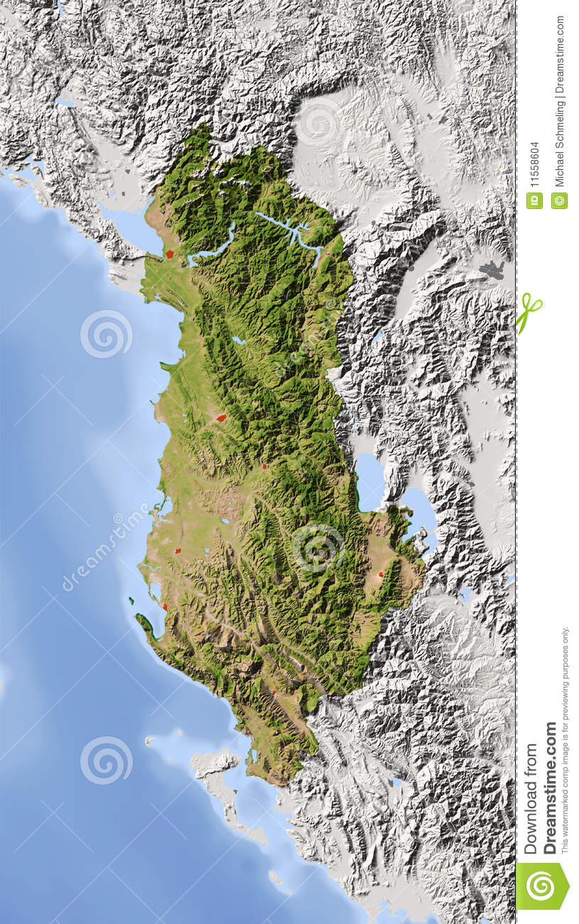 Albania Shaded Relief Map Stock Illustration Image Of Geography - Albania physical map