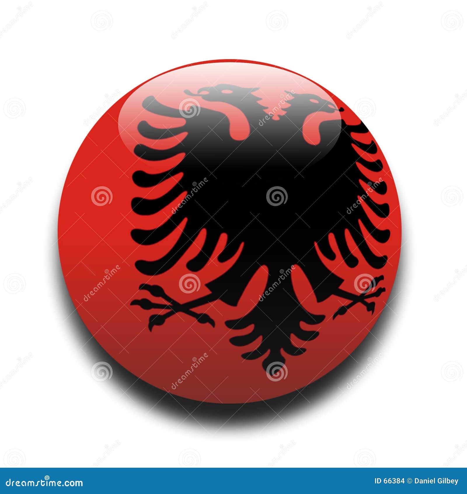 Albanian flagga