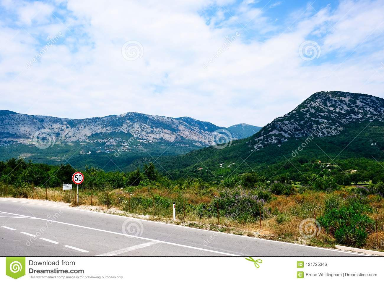 Landscape With Mountains, Albania, Europe