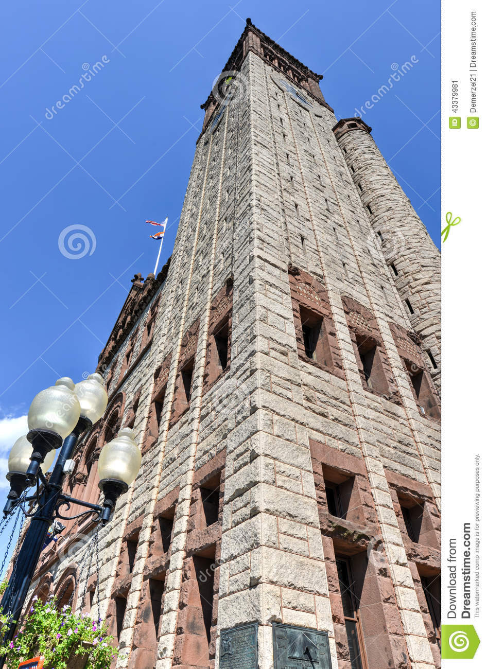 Albany City Hall In New York State Stock Image