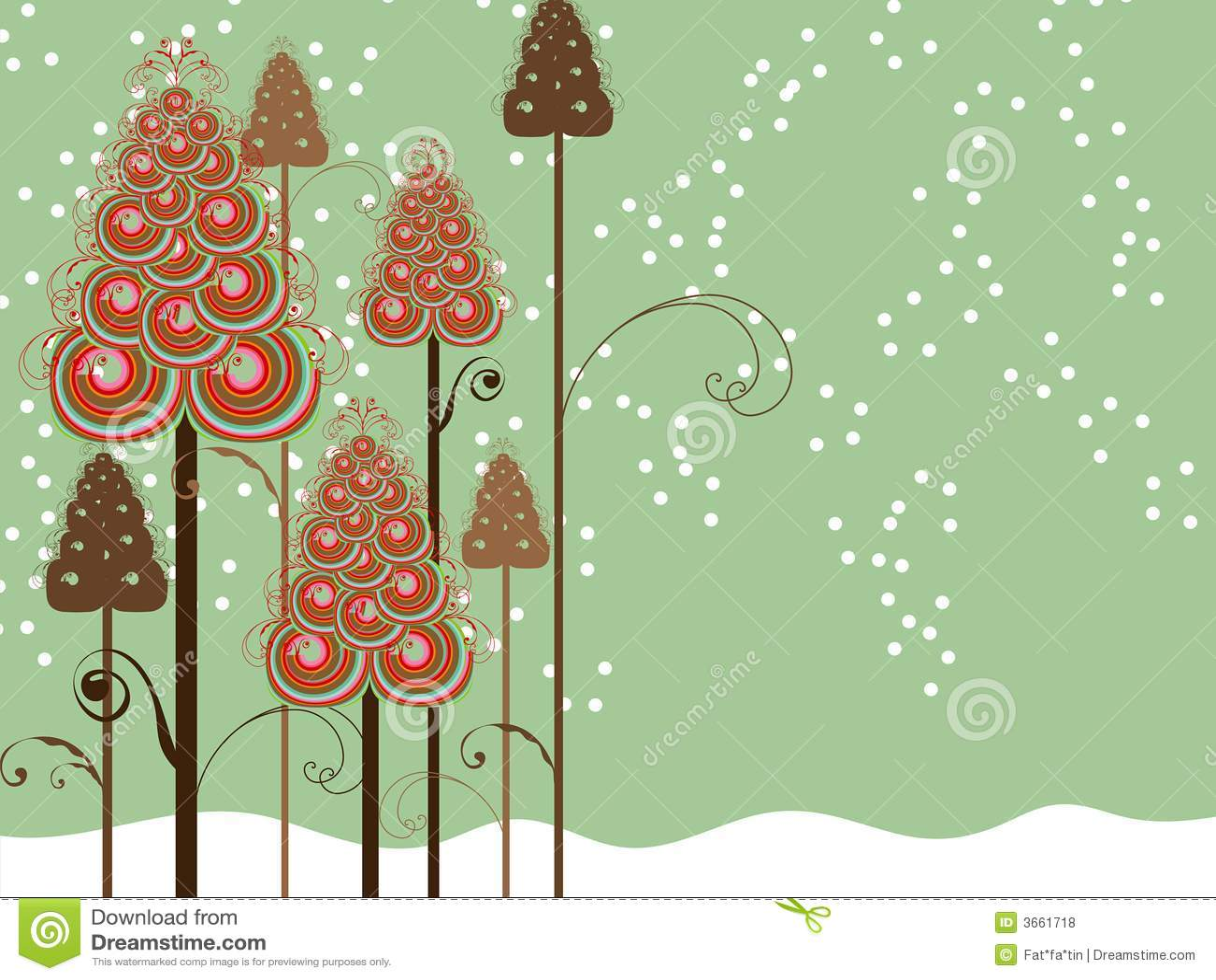 Alberi capricciosi di inverno di turbinii