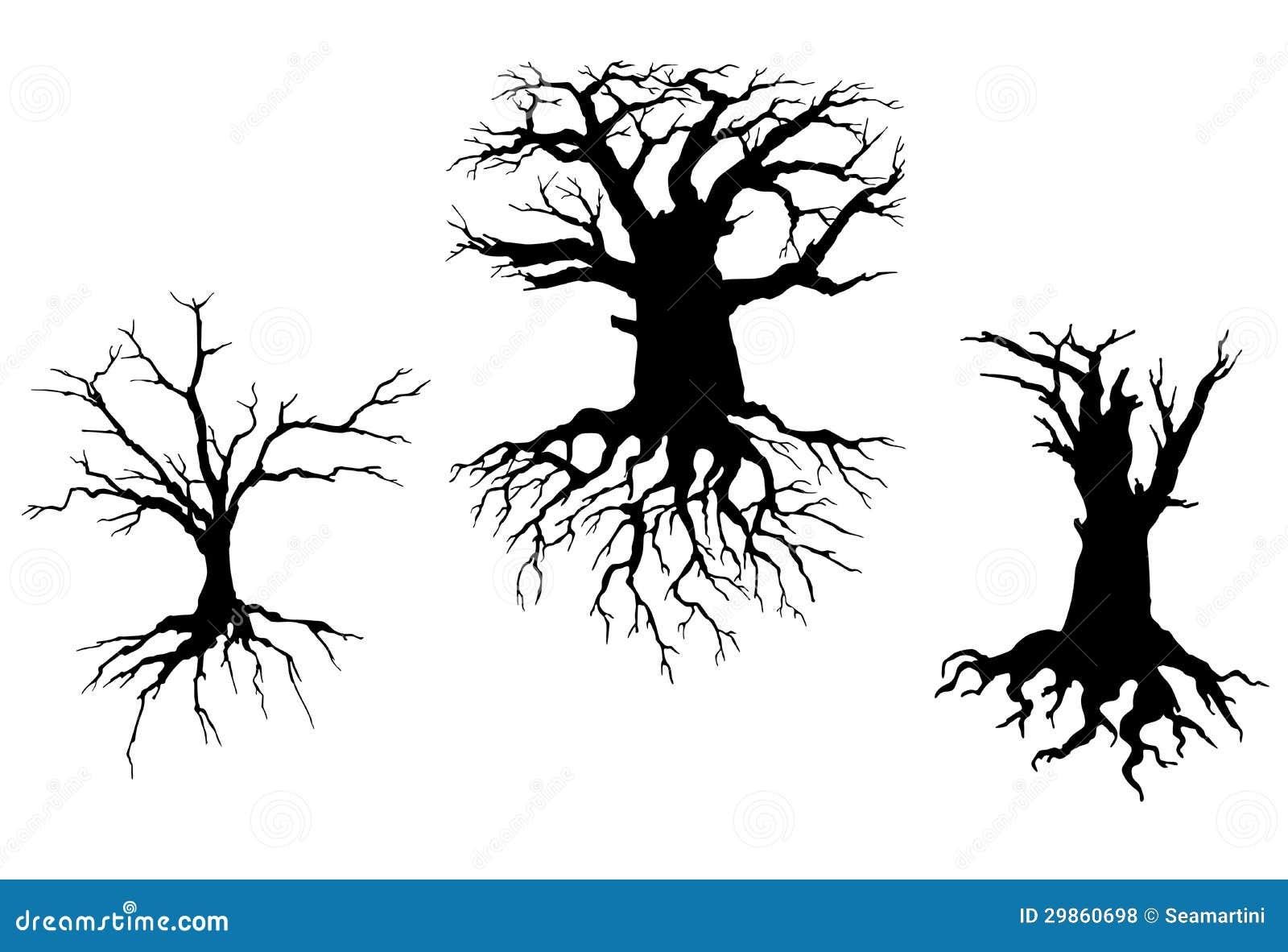 Alberi Morti Per Il Disegno Di Ecologia Illustrazione Vettoriale
