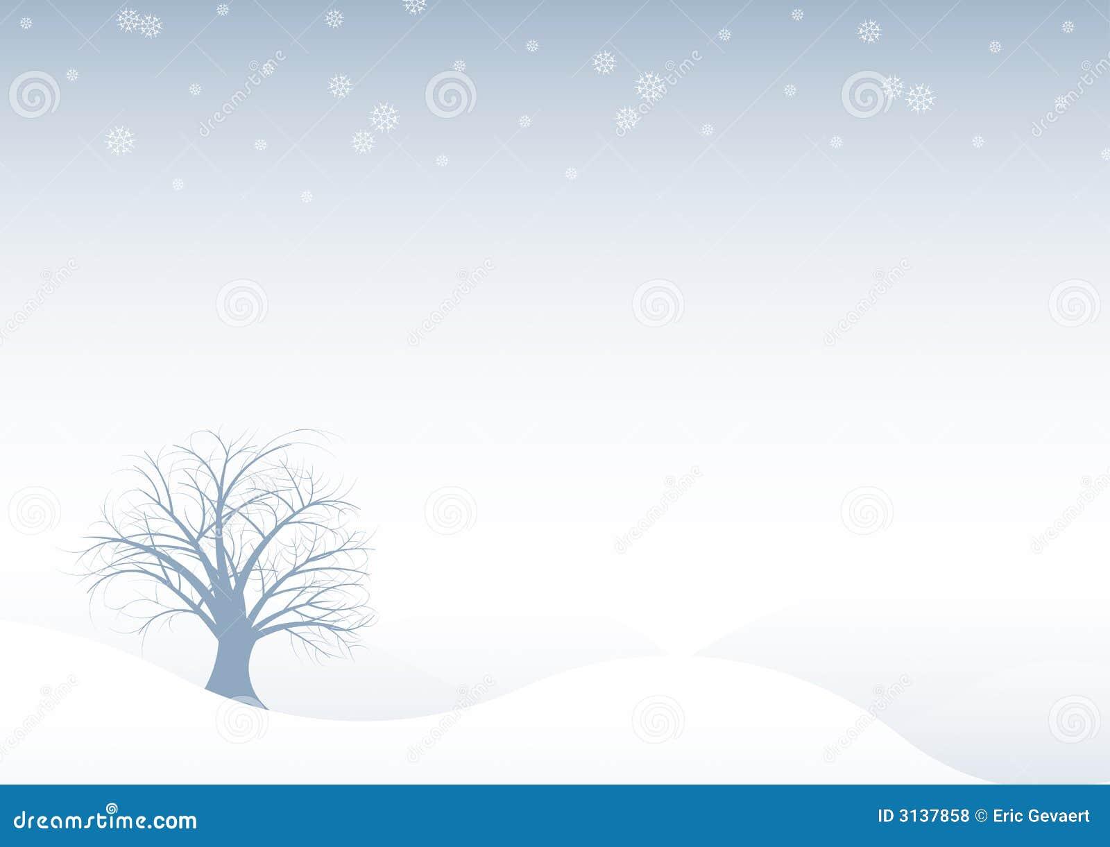 Albero astratto de di inverno di vettore