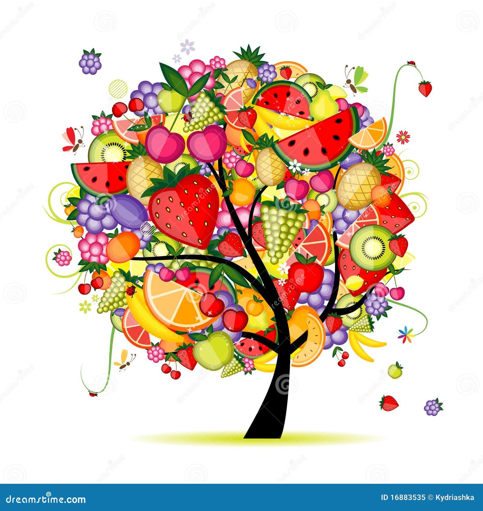 Albero da frutto di energia per il vostro disegno for Albero di kiwi