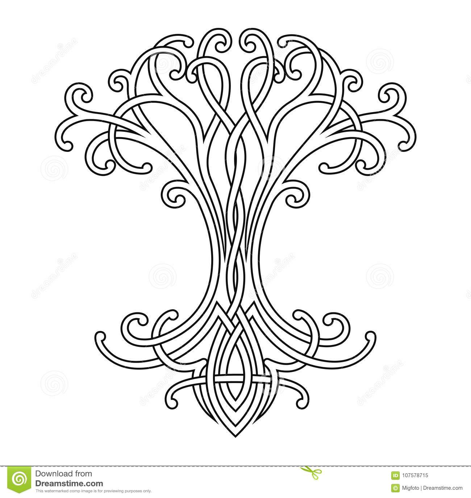 Albero Della Vita Celtico Illustrazione Vettoriale Illustrazione Di