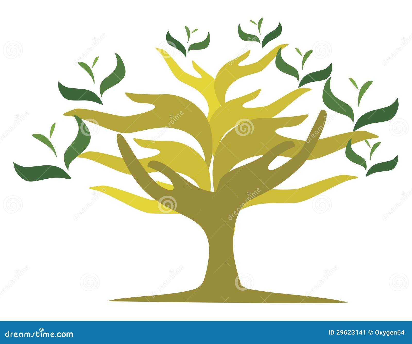 Albero delle mani aperte immagine stock immagine 29623141 - Immagine dell albero a colori ...