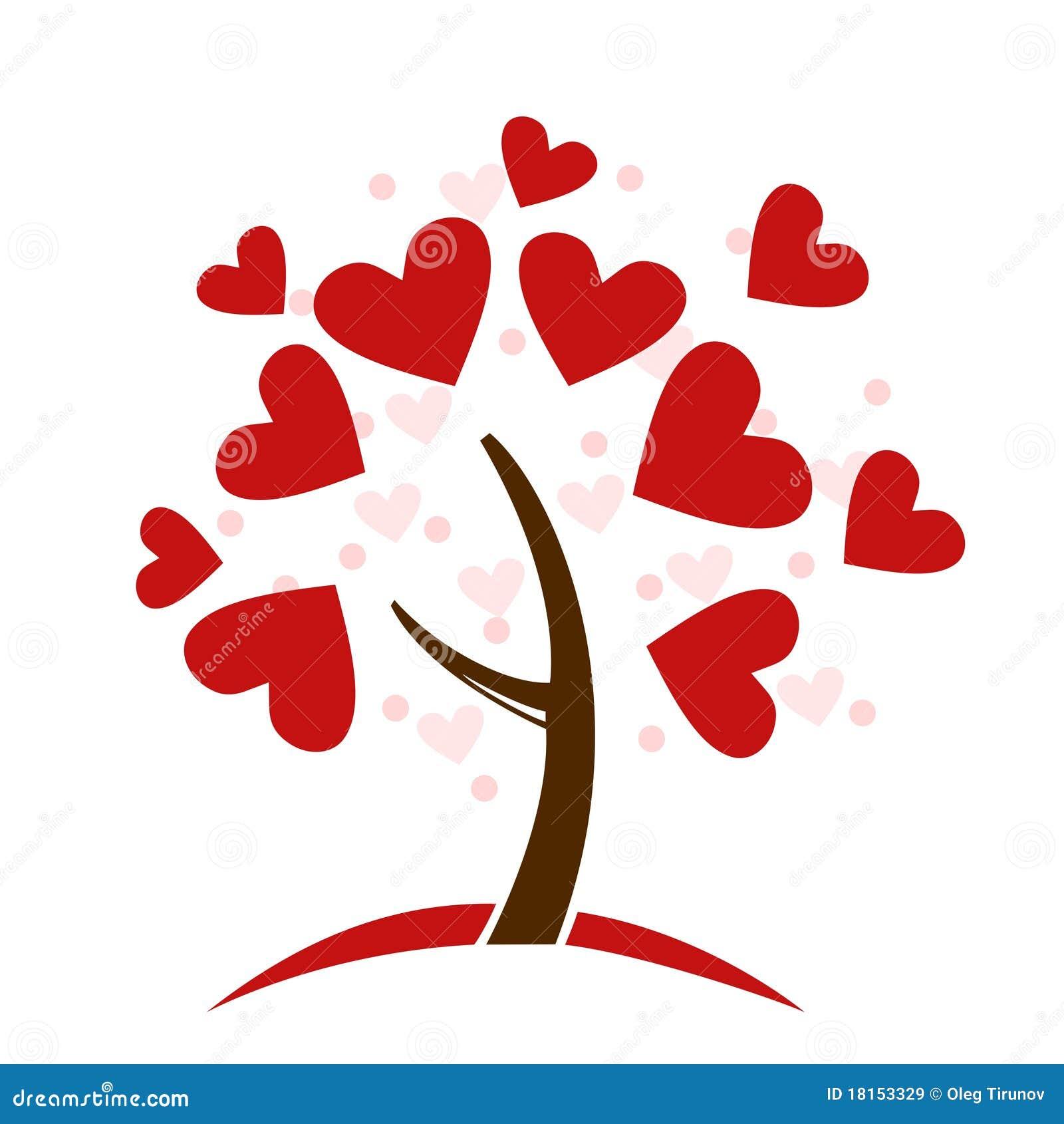 Albero di amore stilizzato fatto dei cuori immagini stock for Immagini di cuori rossi