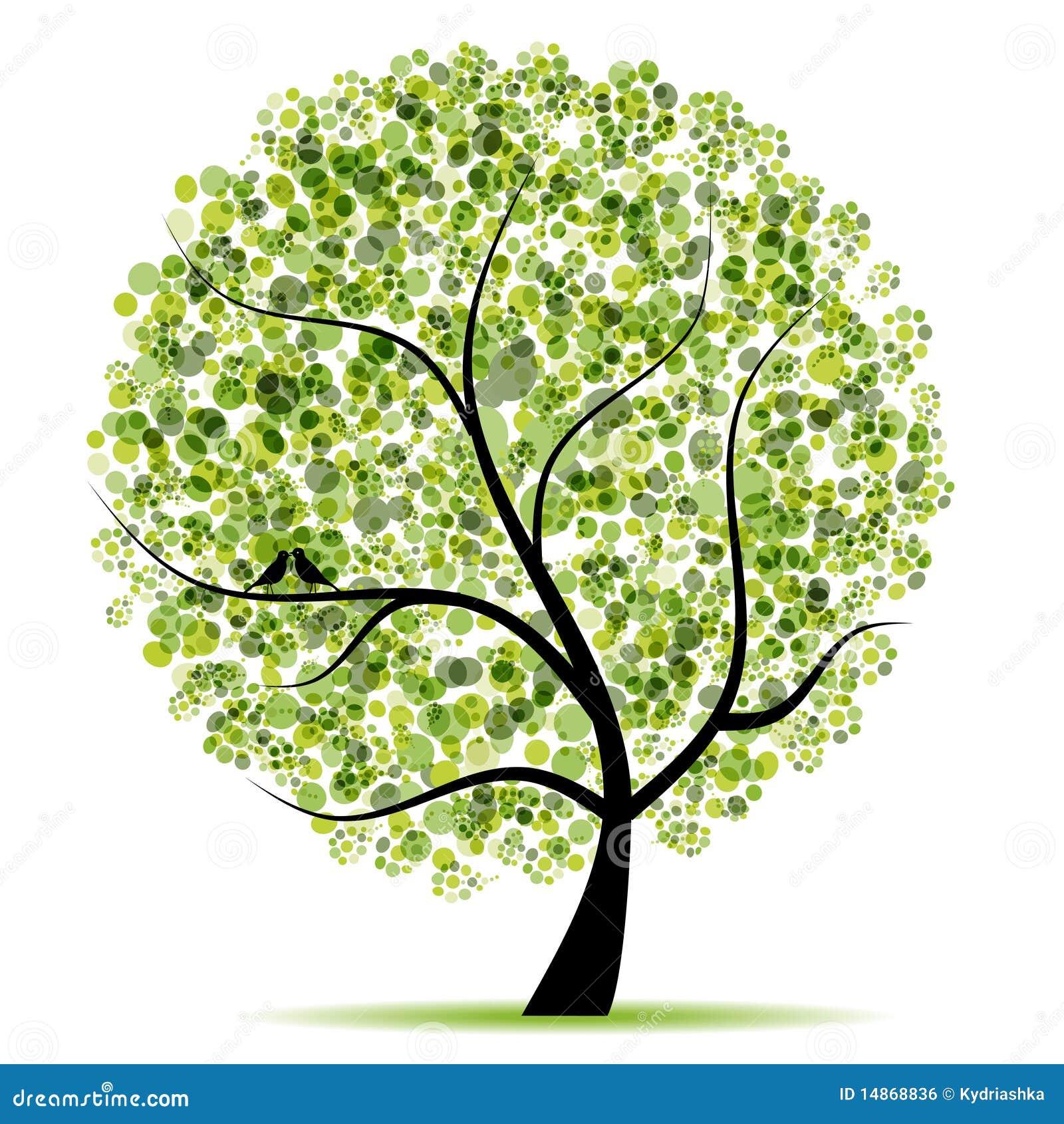 Albero di arte bello per il vostro disegno illustrazione - Immagine dell albero a colori ...