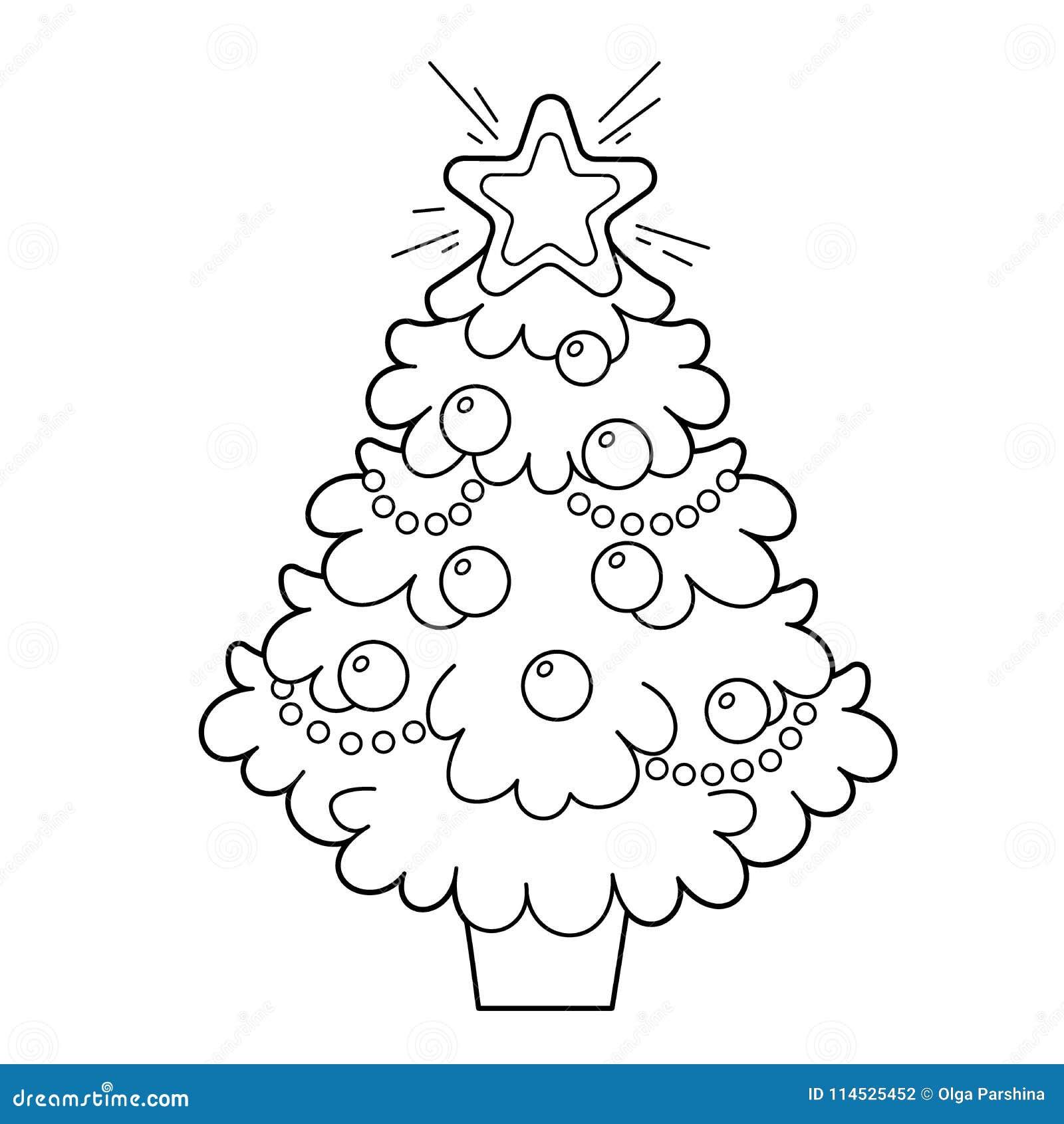 Albero Di Natale Con Gli Ornamenti Ed I Regali Natale Nuovo
