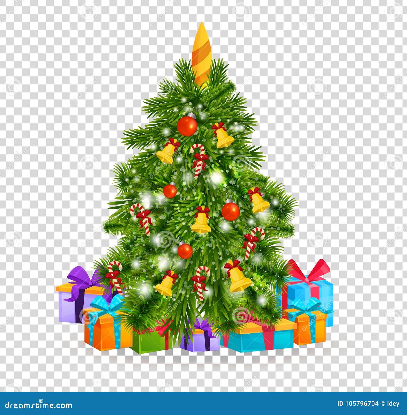 Albero Di Natale Con Le Belle Palle, Decorazioni Regali