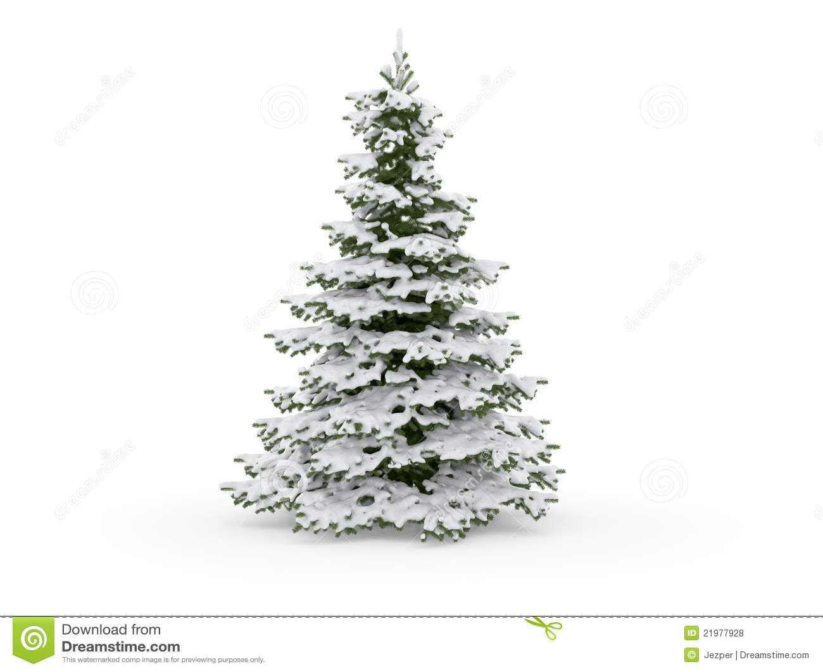 Albero Di Natale Con Neve Illustrazione Di Stock Illustrazione Di