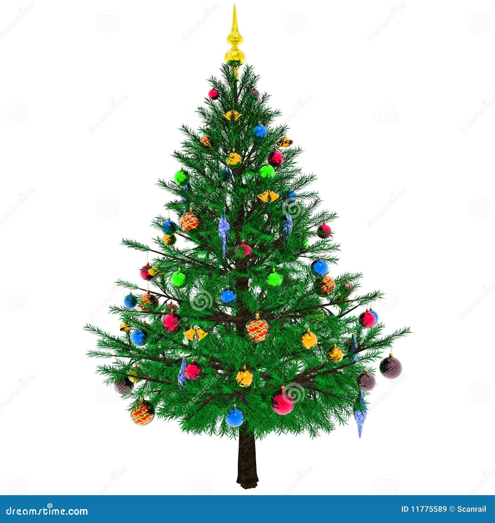 Albero di natale decorato illustrazione di stock immagine - Tutorial arbol de navidad ...