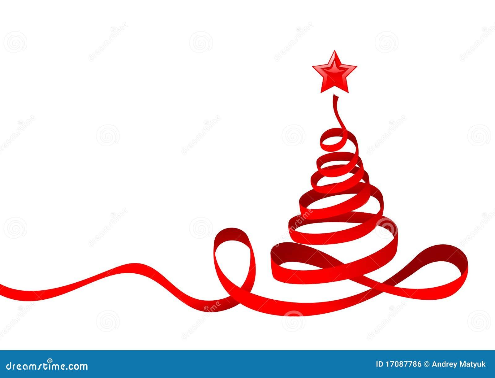 Immagini Vettoriali Natale.Albero Di Natale Del Nastro Illustrazione Vettoriale