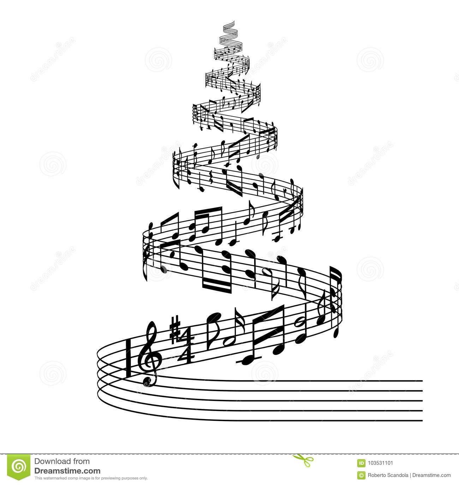 note musicali natalizie