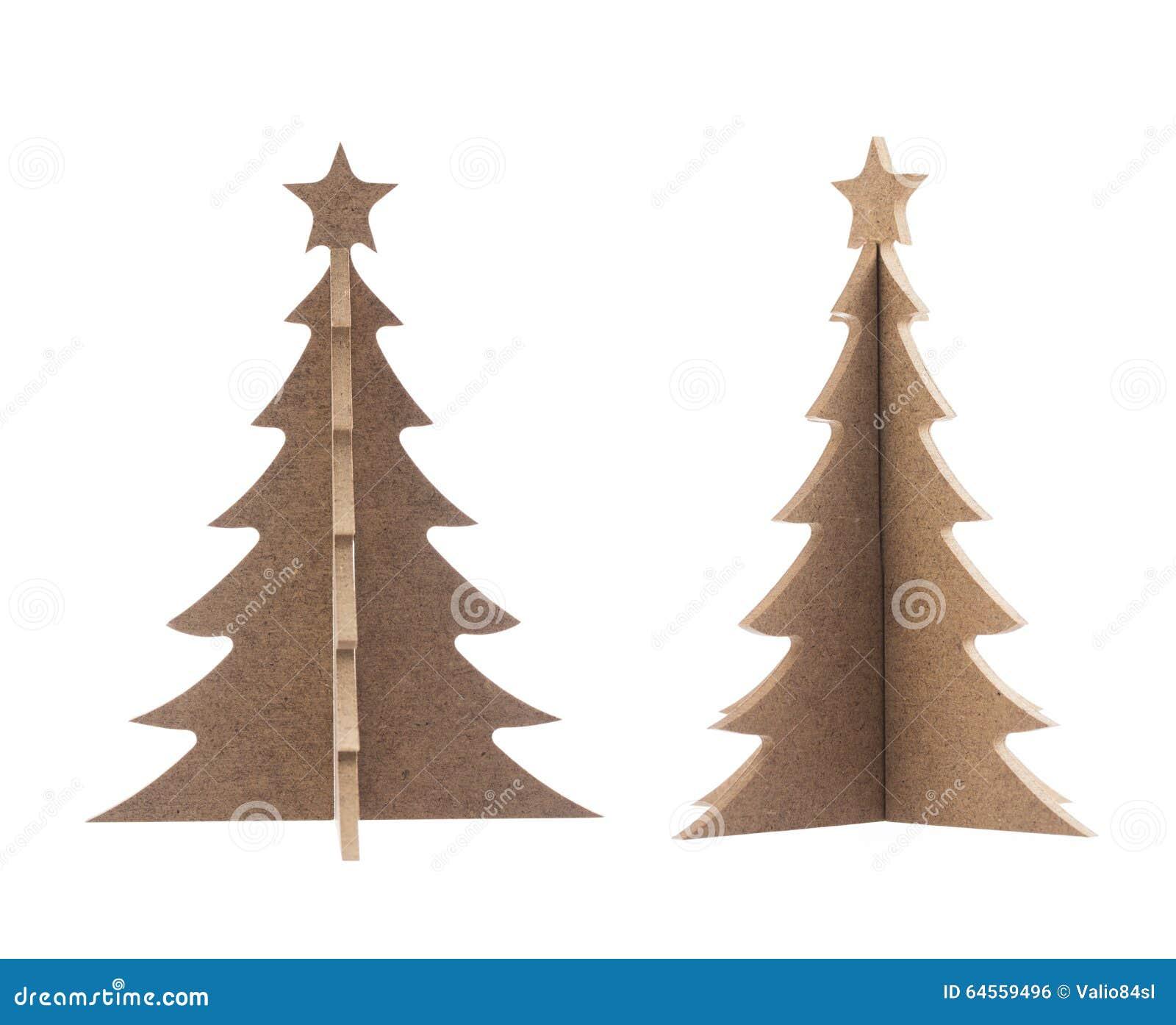 Albero di natale di legno con la stella per la decorazione for Albero di natale di legno