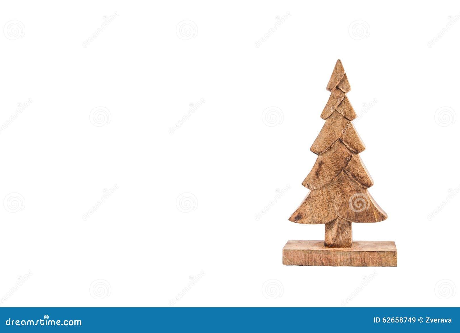 Albero di natale di legno isolato su bianco illustrazione for Albero di natale di legno