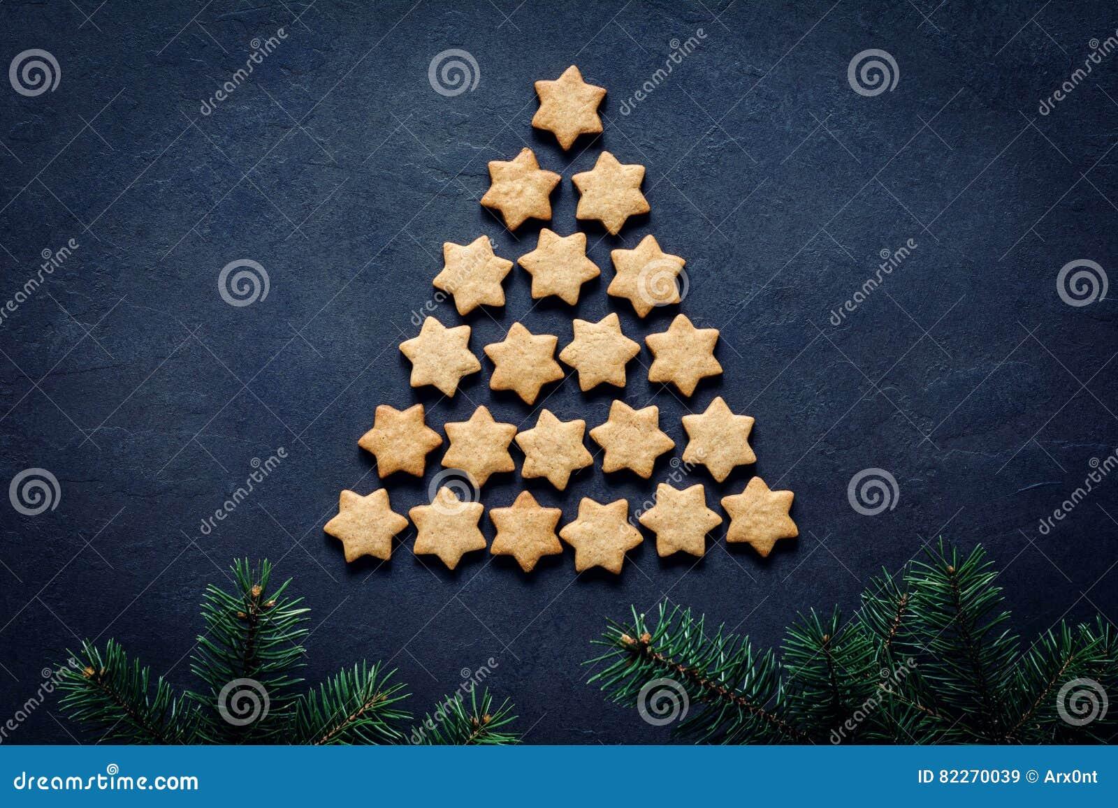 Albero Di Natale Fatto Con I Biscotti.Albero Di Natale Fatto Dei Biscotti Immagine Stock Immagine Di