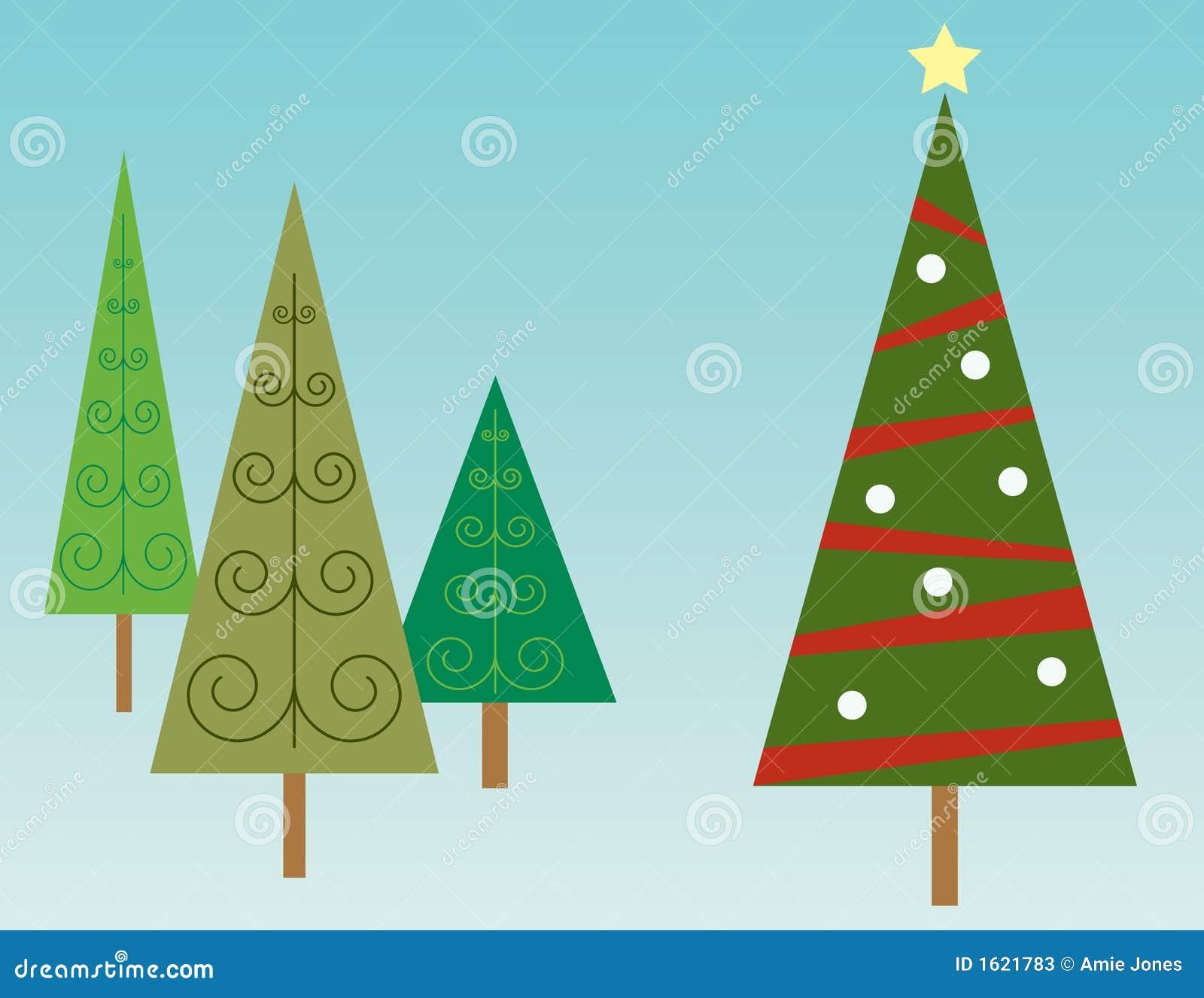 Albero di Natale in foresta
