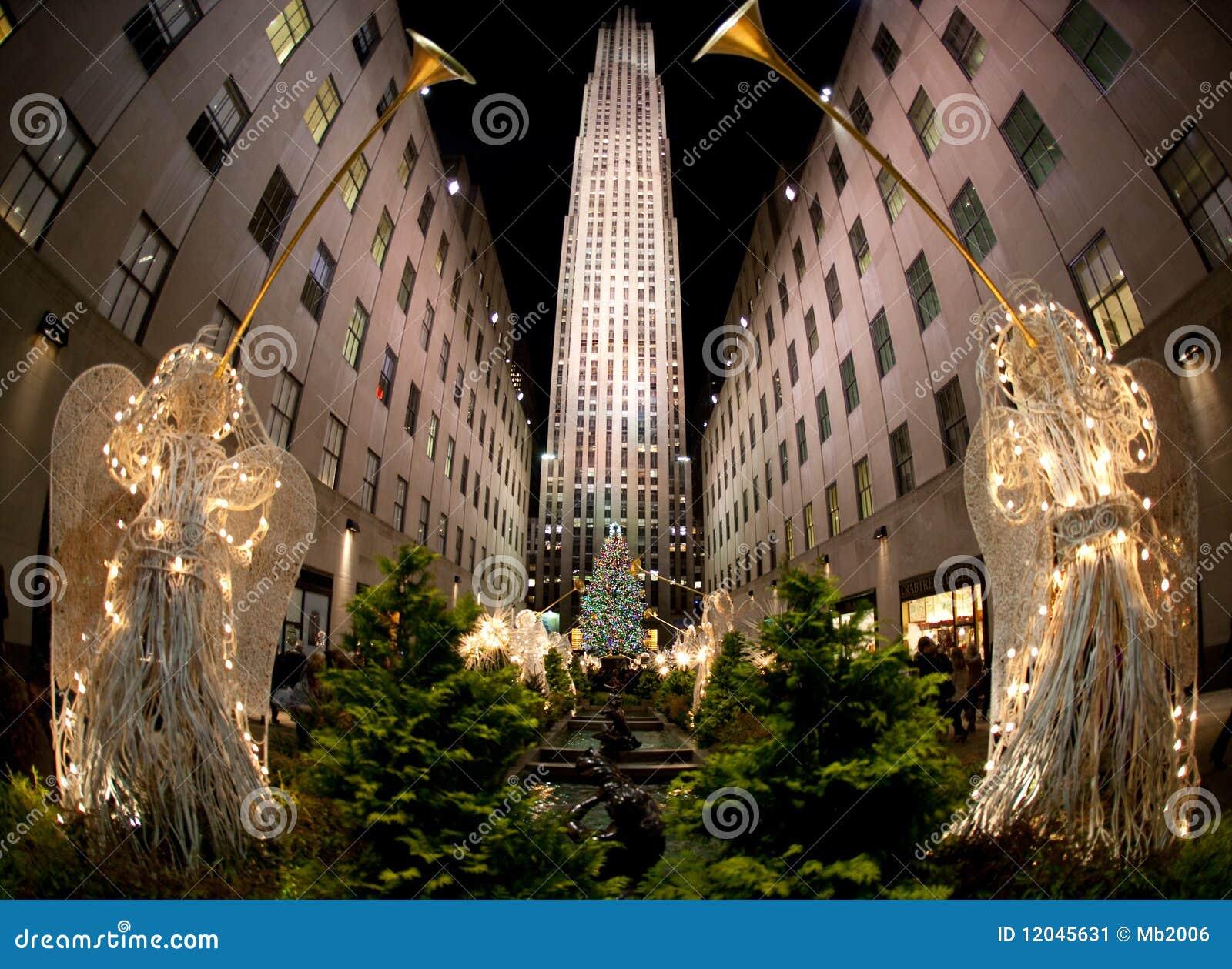 Albero Di Natale New York.Albero Di Natale New York Fotografia Editoriale Immagine Di Centro