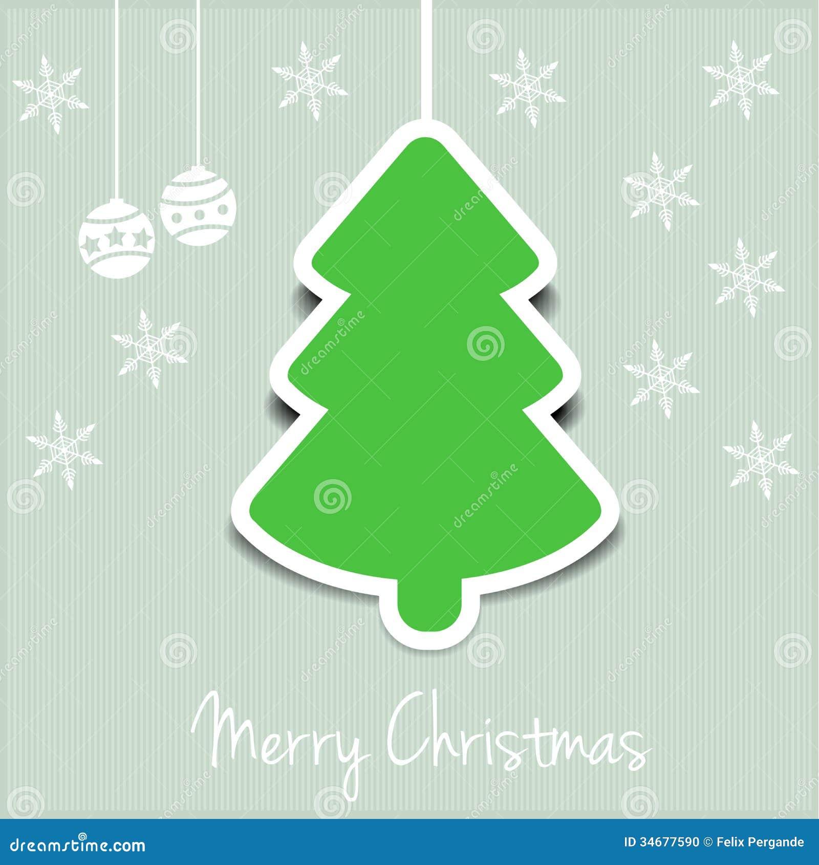 Albero Natale Stilizzato Foto Royalty Free, Immagini