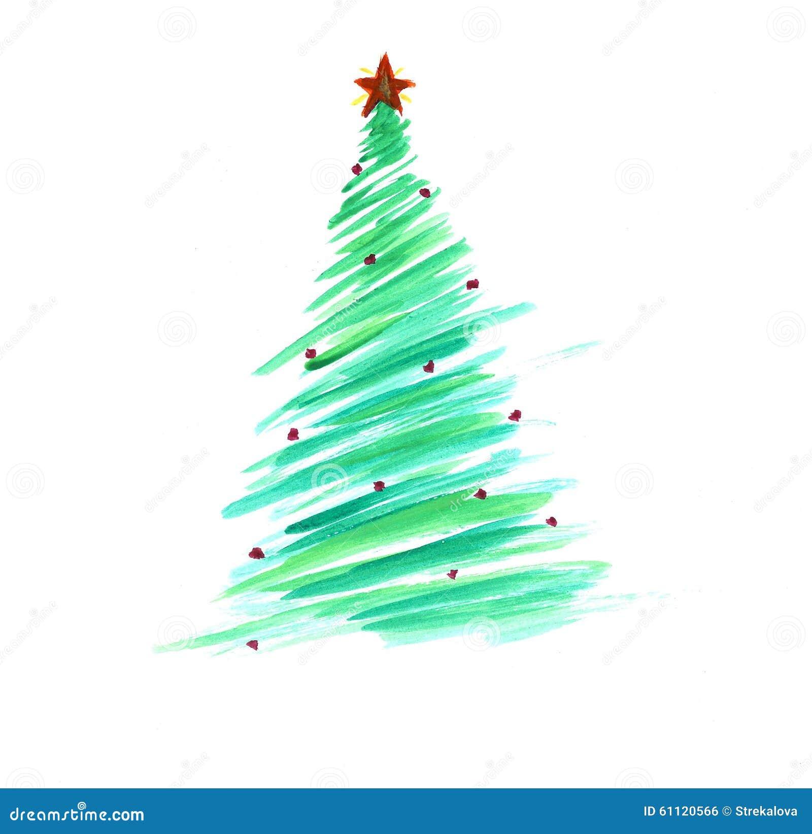 albero di natale stilizzato con gli ornamenti variopinti
