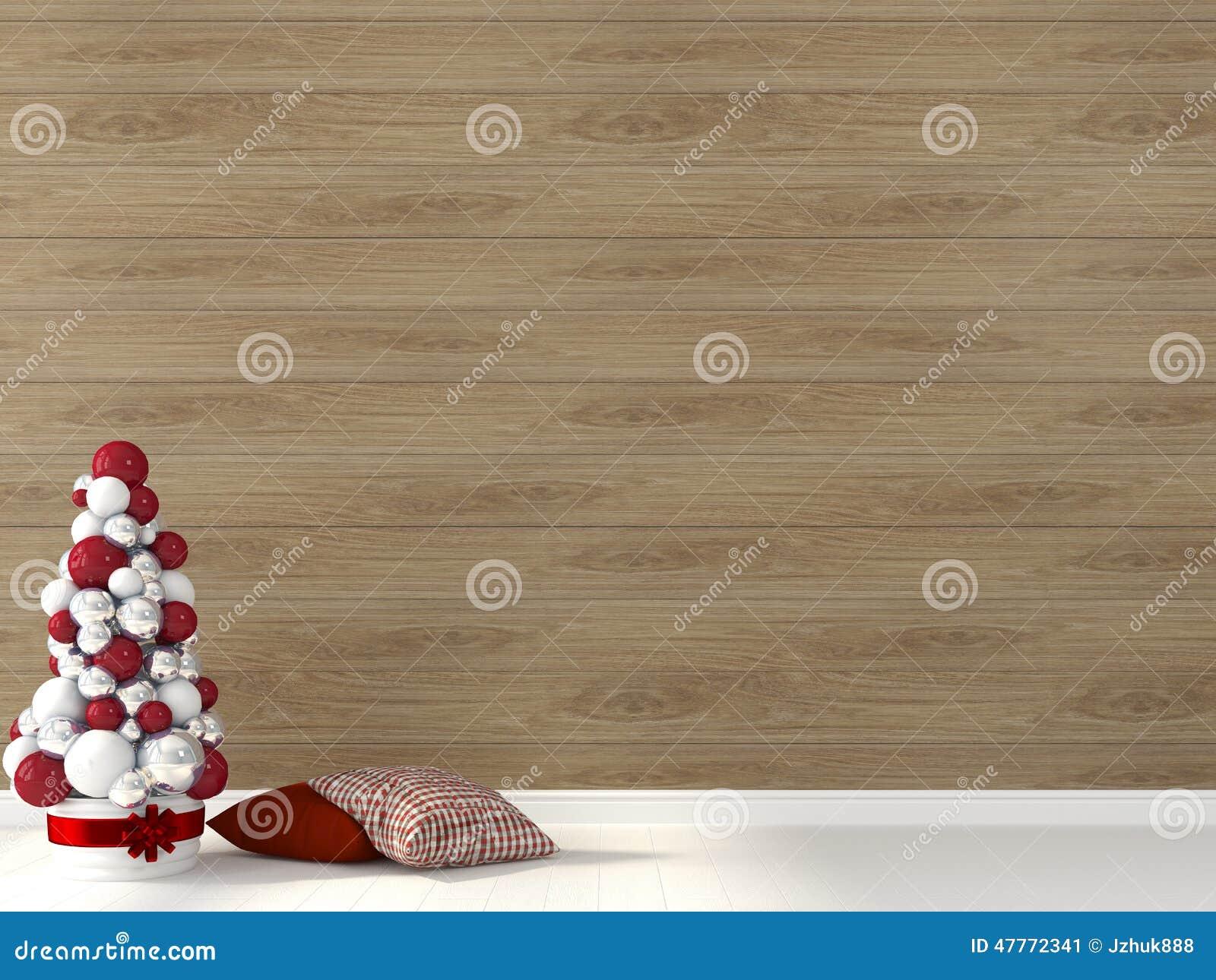 Alberi Di Natale In Legno Da Appendere : Albero di natale stilizzato contro lo sfondo della parete di legno