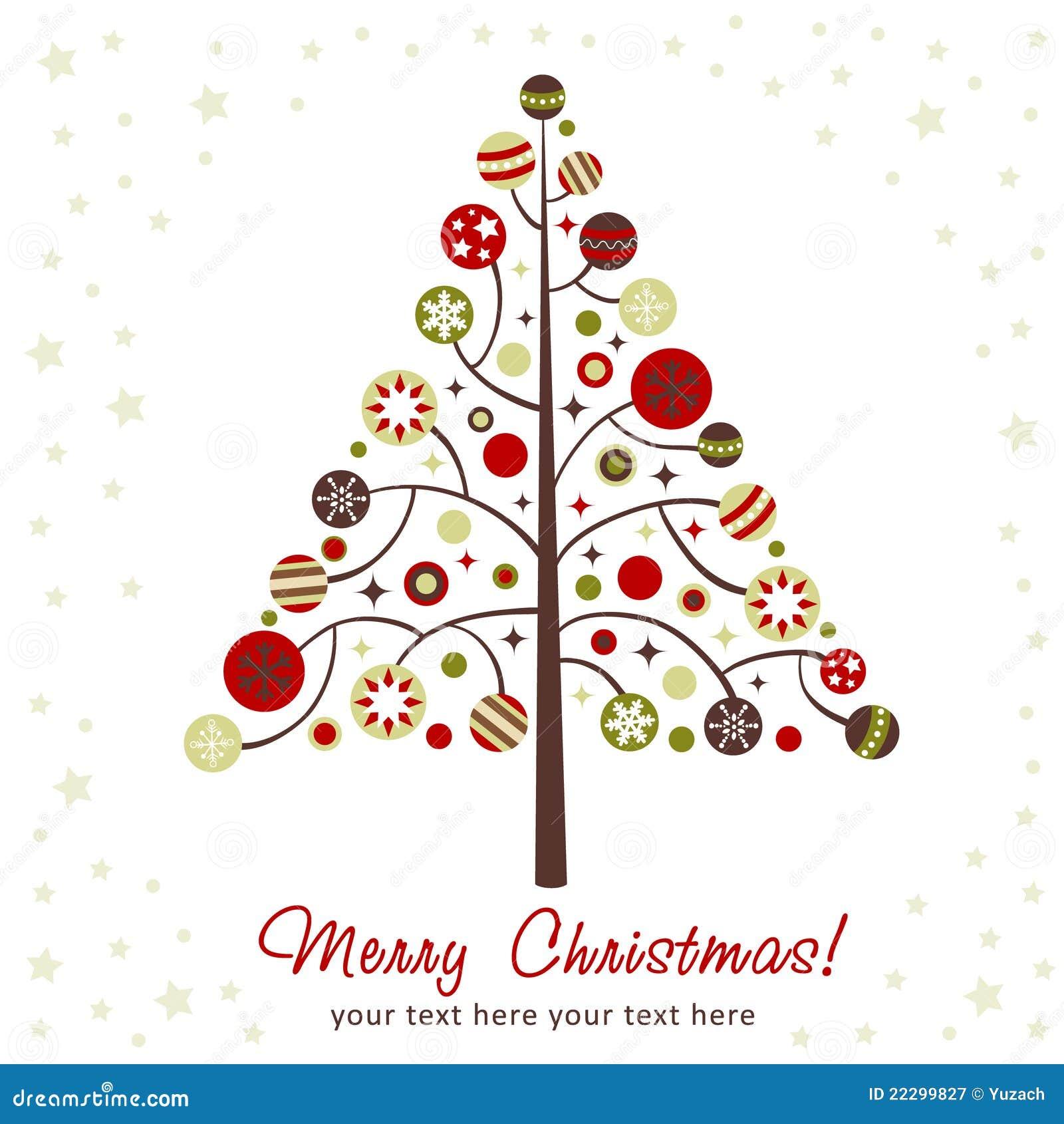 Albero Di Natale Stilizzato Di Disegno Illustrazione Vettoriale