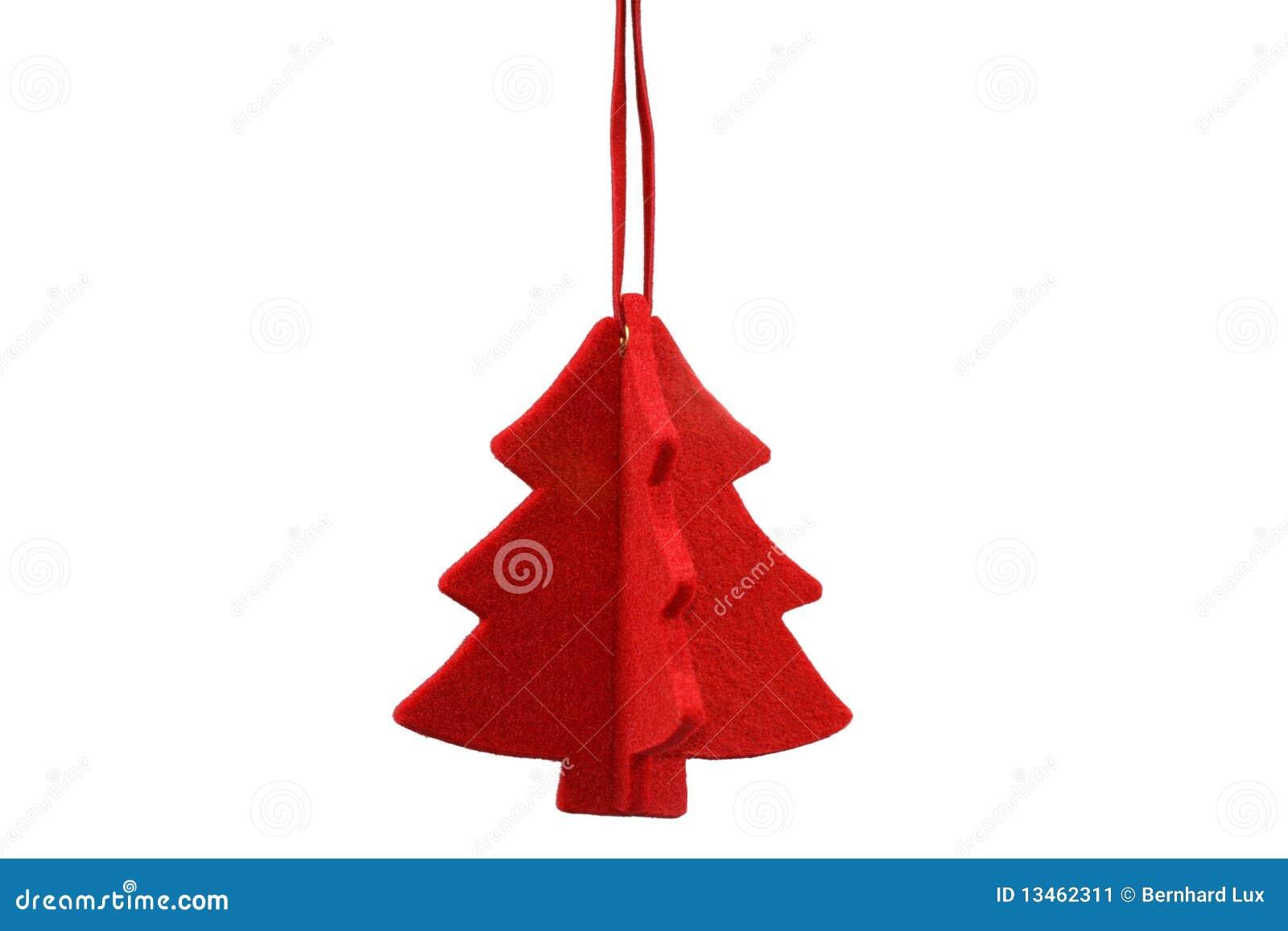 Albero di natale stilizzato rosso immagine stock for Albero natale stilizzato