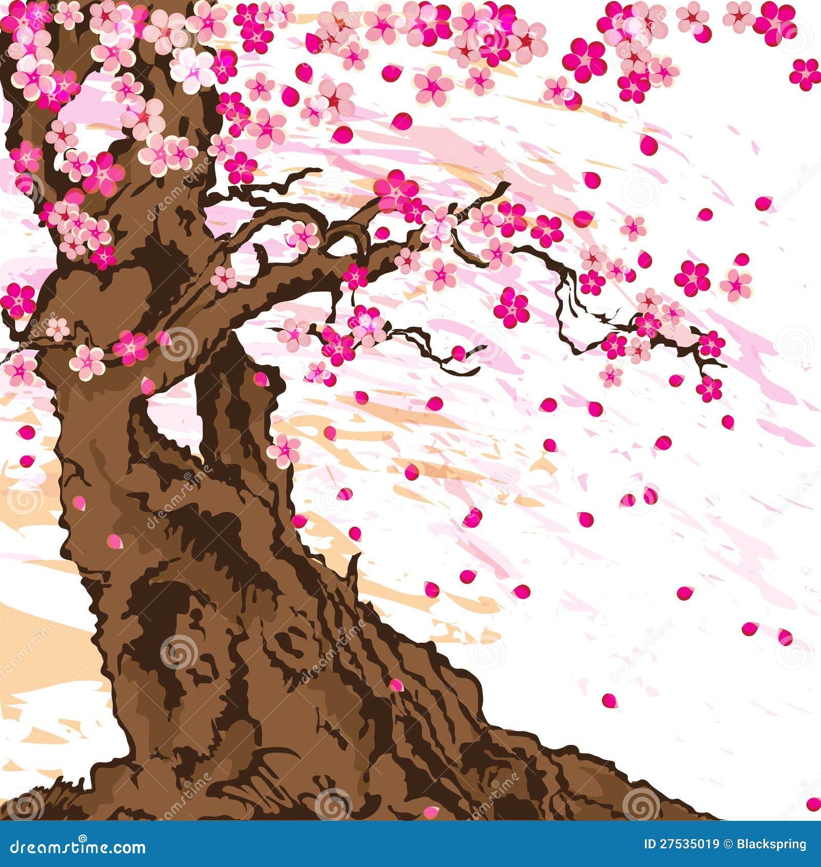 albero di sakura illustrazione vettoriale illustrazione