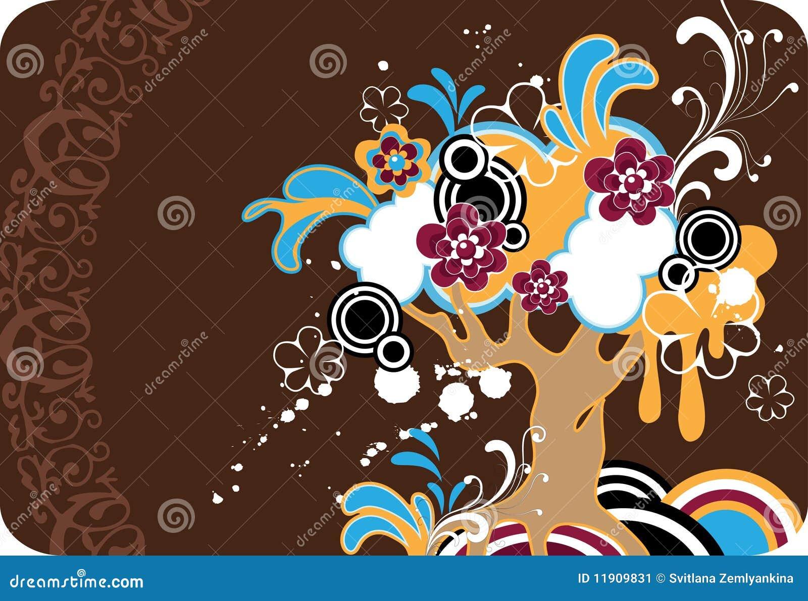 Albero fantastico del fiore immagine stock immagine for Fantastici disegni di garage
