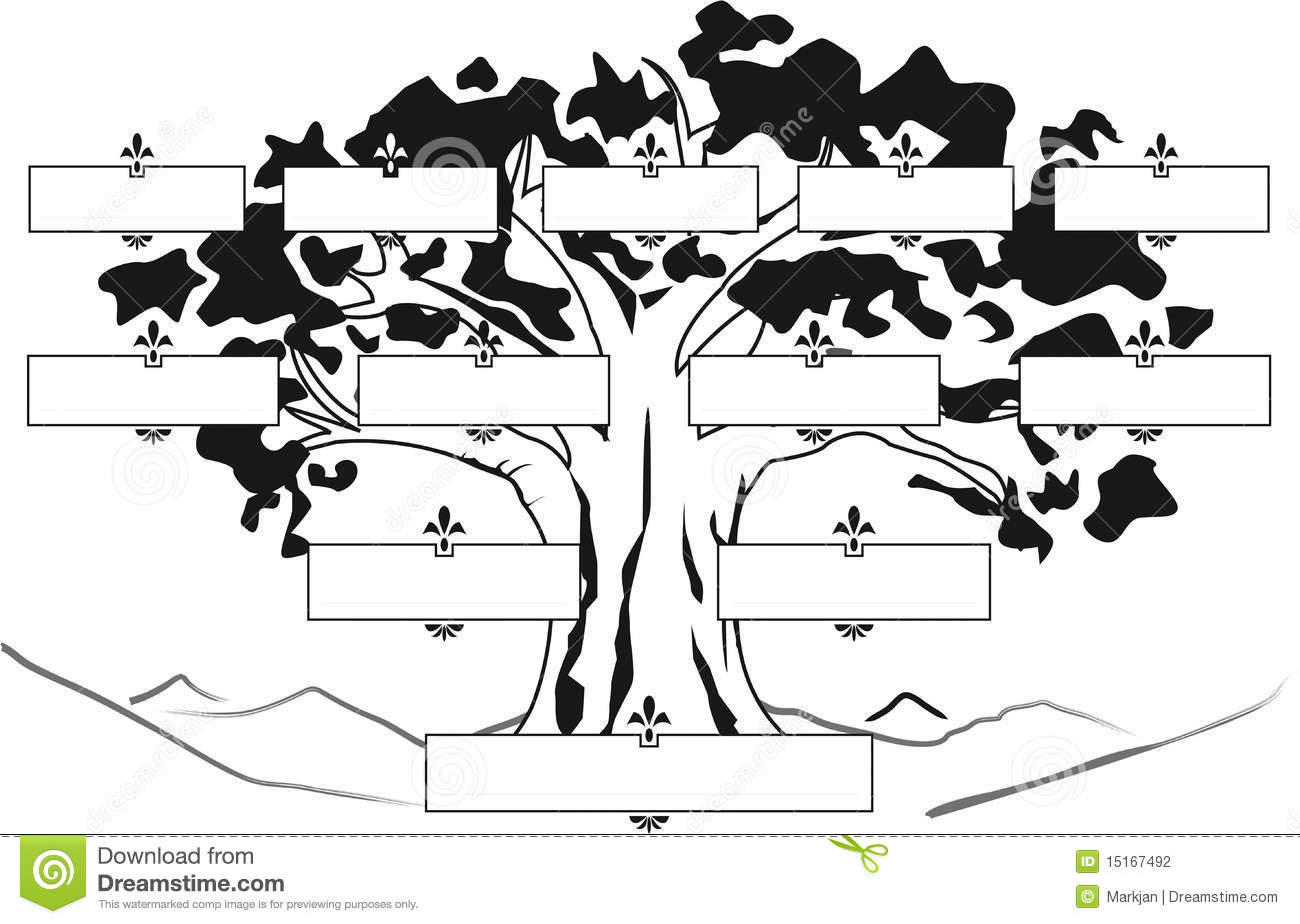 Favorito Albero Genealogico 2bn stock illustration. Image of relative  UI78