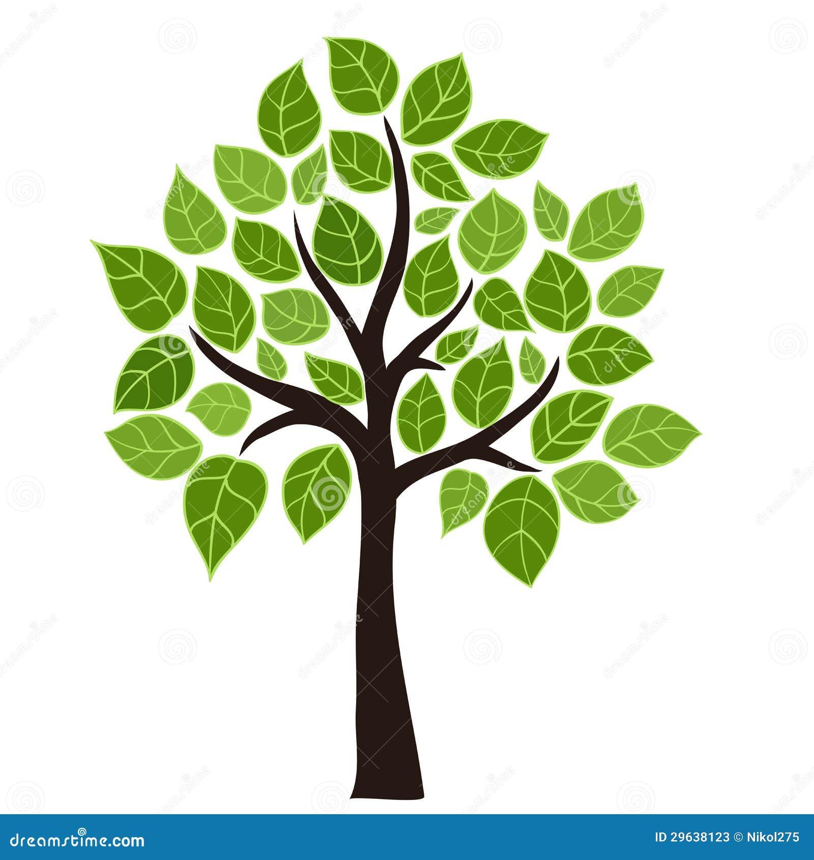 albero stilizzato illustrazione vettoriale immagine di