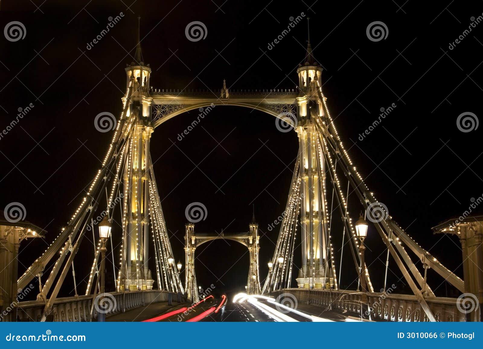 Albert Bridge in London. Night