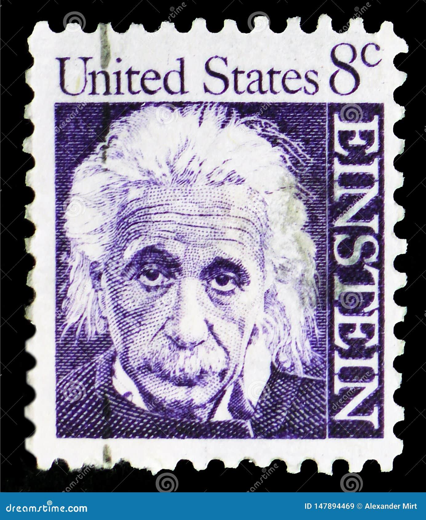 Albert Einstein 1879-1955, Fysicus, Beroemde Amerikanen serie, circa 1966
