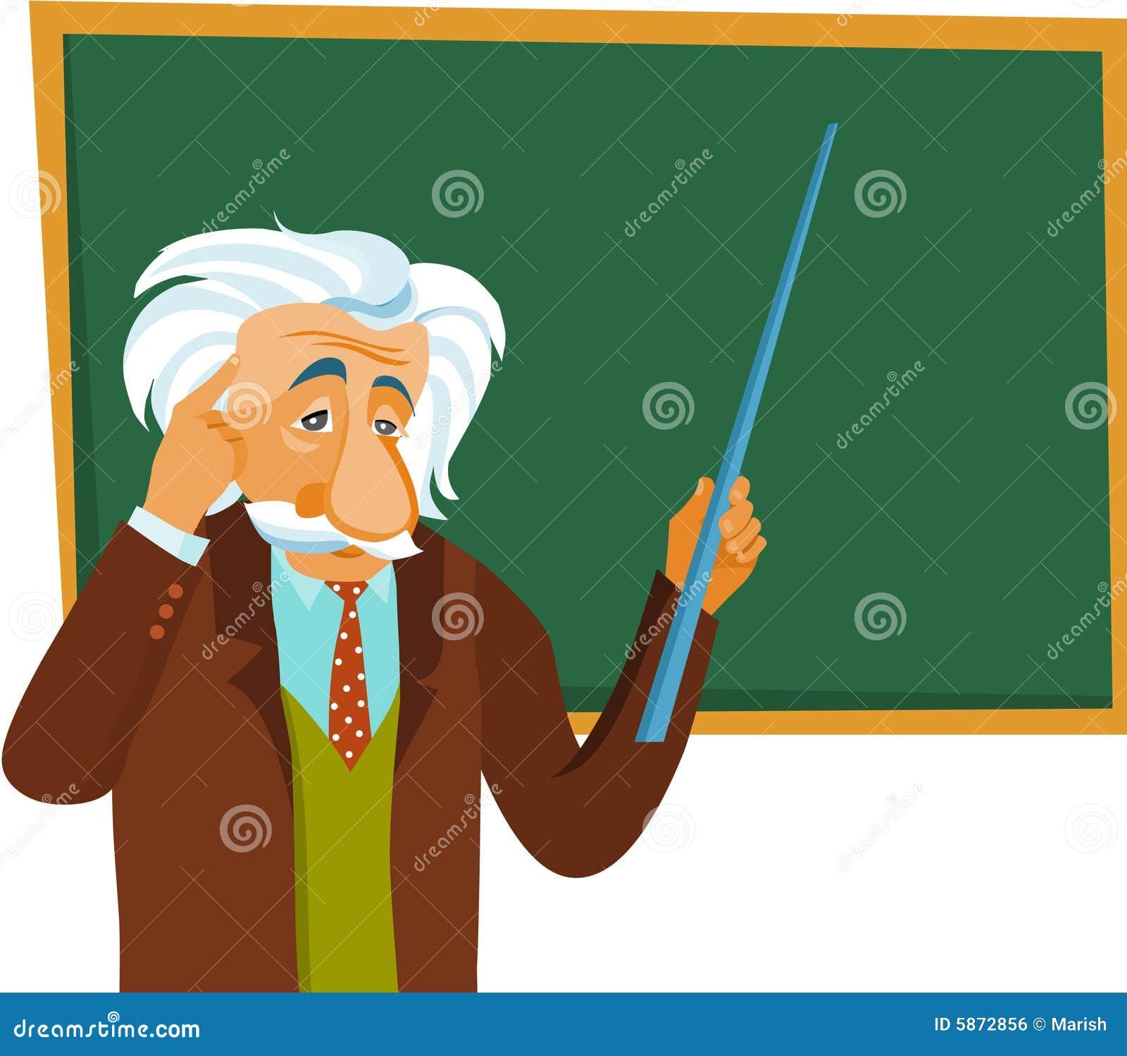 Albert Einstein Make A Presentation Stock Vector Illustration Of