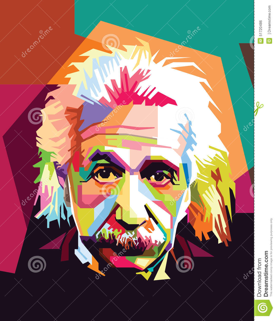 Albert Einstein Pop Art Editorial Photo - Image: 51720486