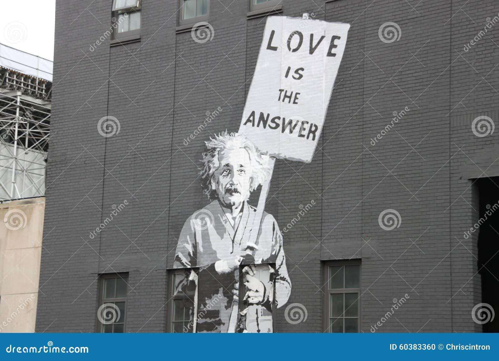 Albert einstein, street art,new york city
