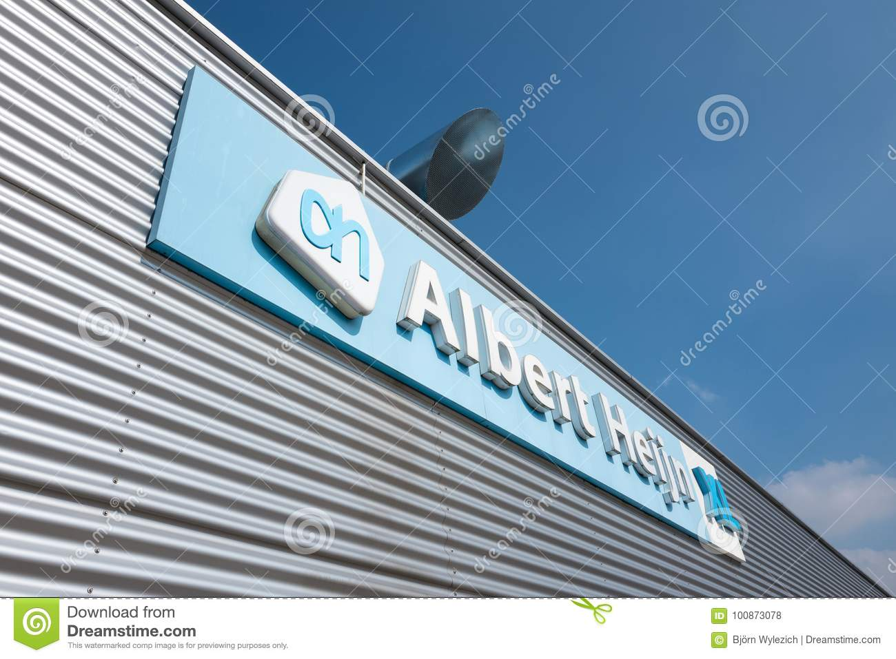 Albert Heijn XL Sign At Branch Editorial Stock Photo - Image