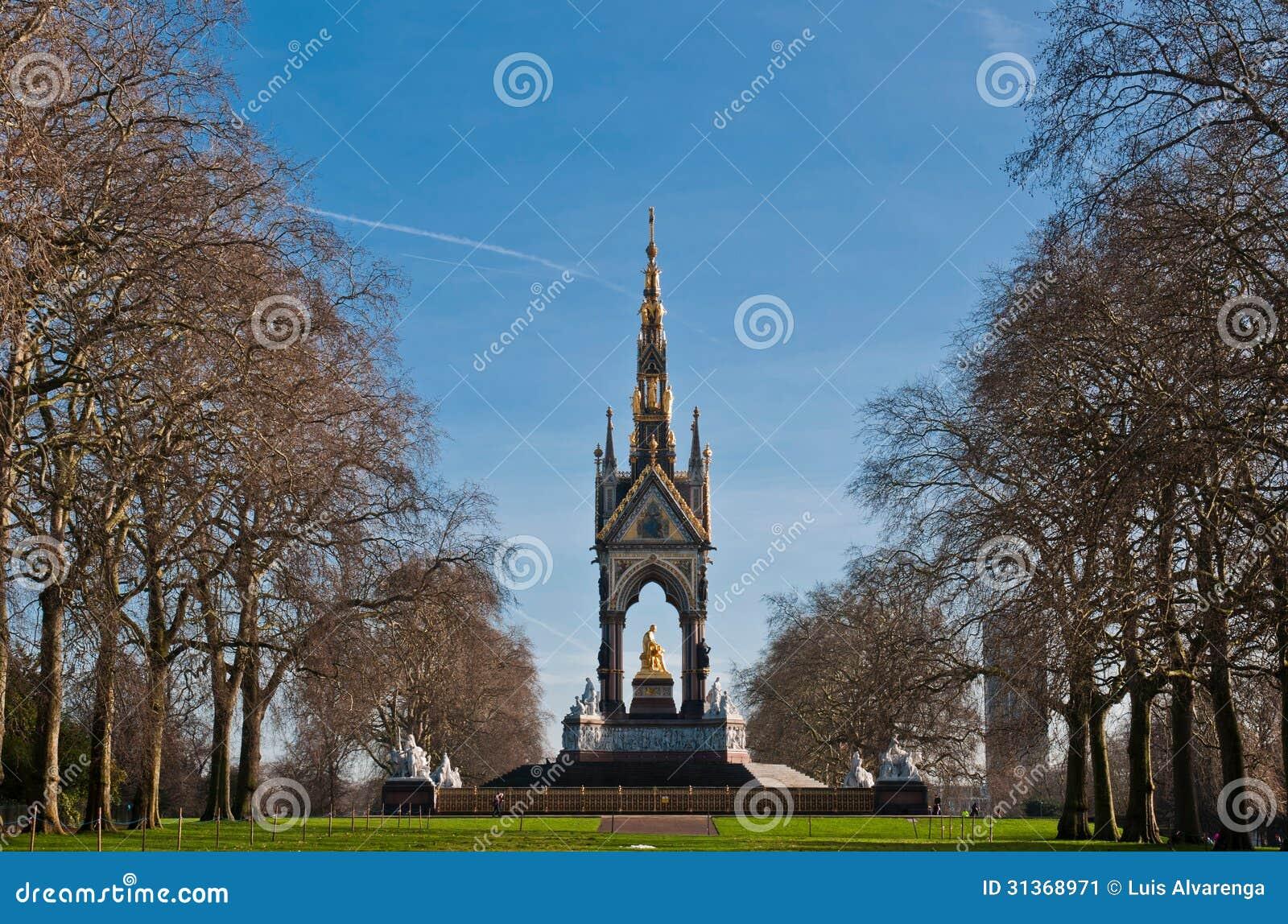 Albert memorial en los jardines de kensington imagen de for Jardines de kensington