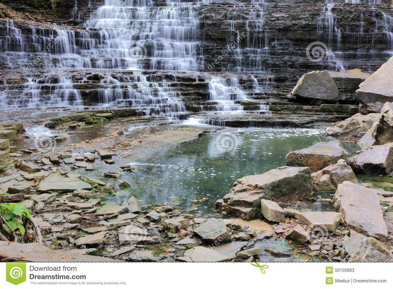 albion falls and rocks stock photo image 50105883