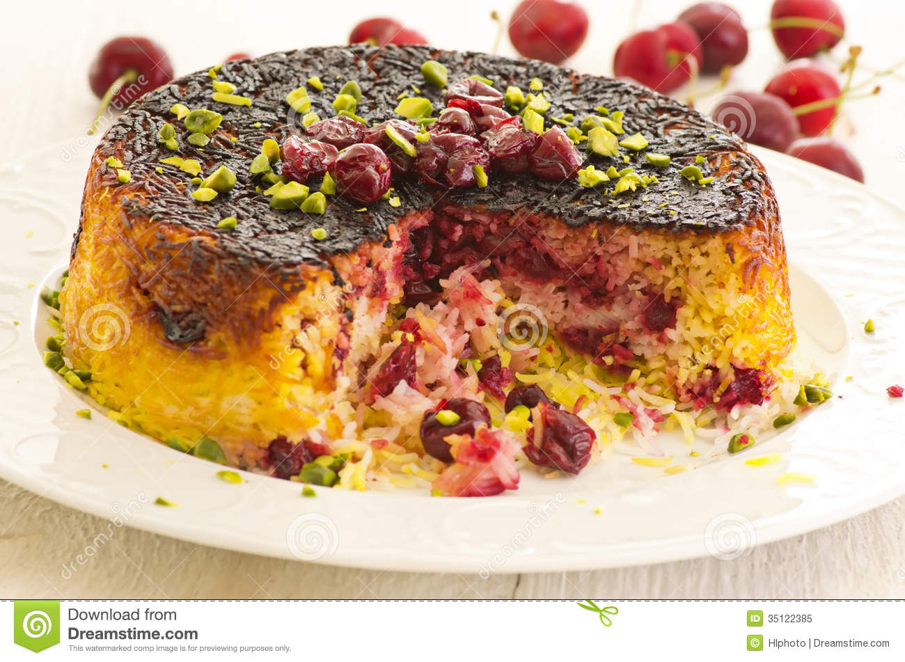 Alboloo Polow Persian Rice With Sour Cherries Royalty Free Stock Photo ...