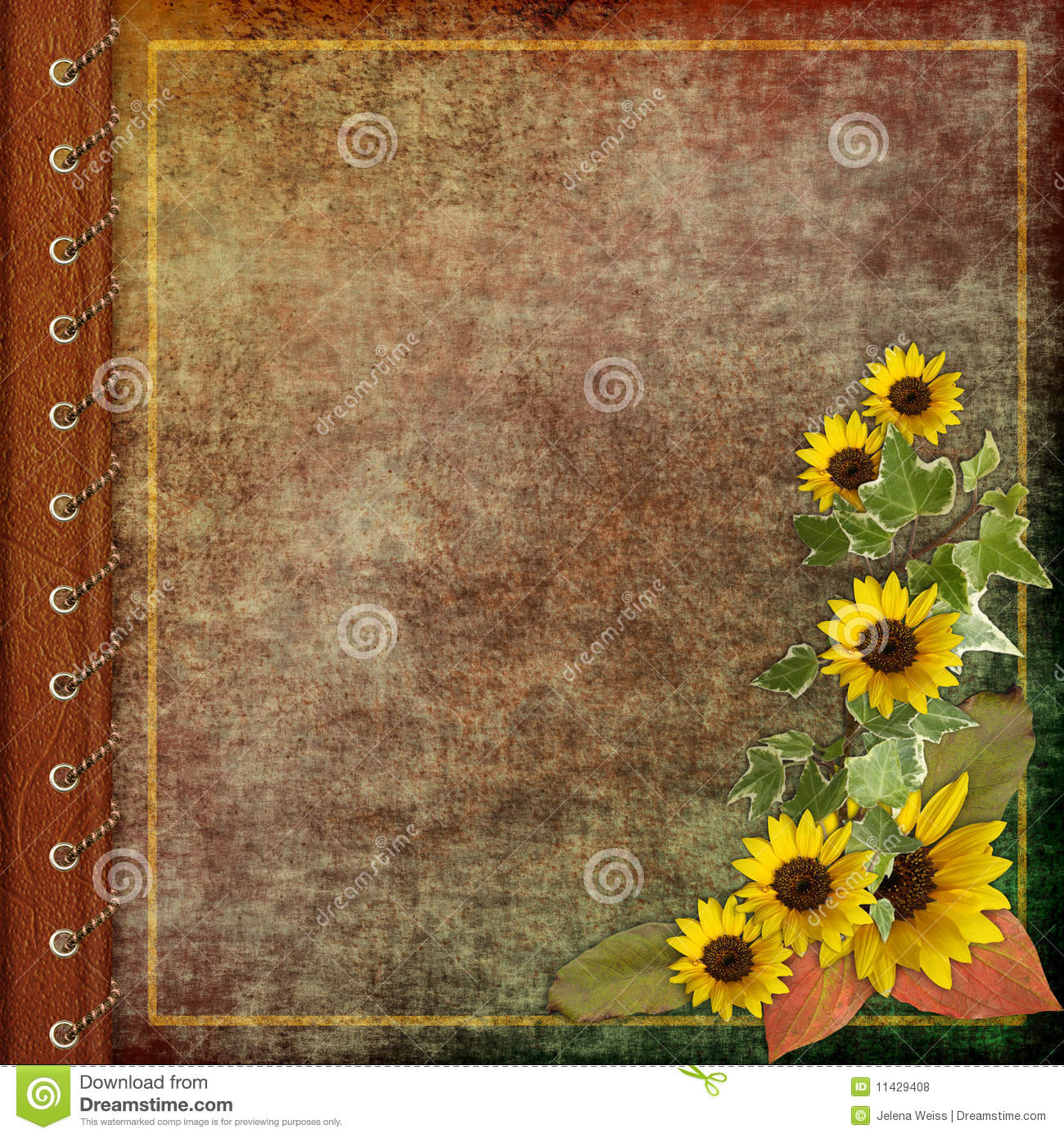 Favorite Album cover with flowers stock illustration. Illustration of aged  RT33