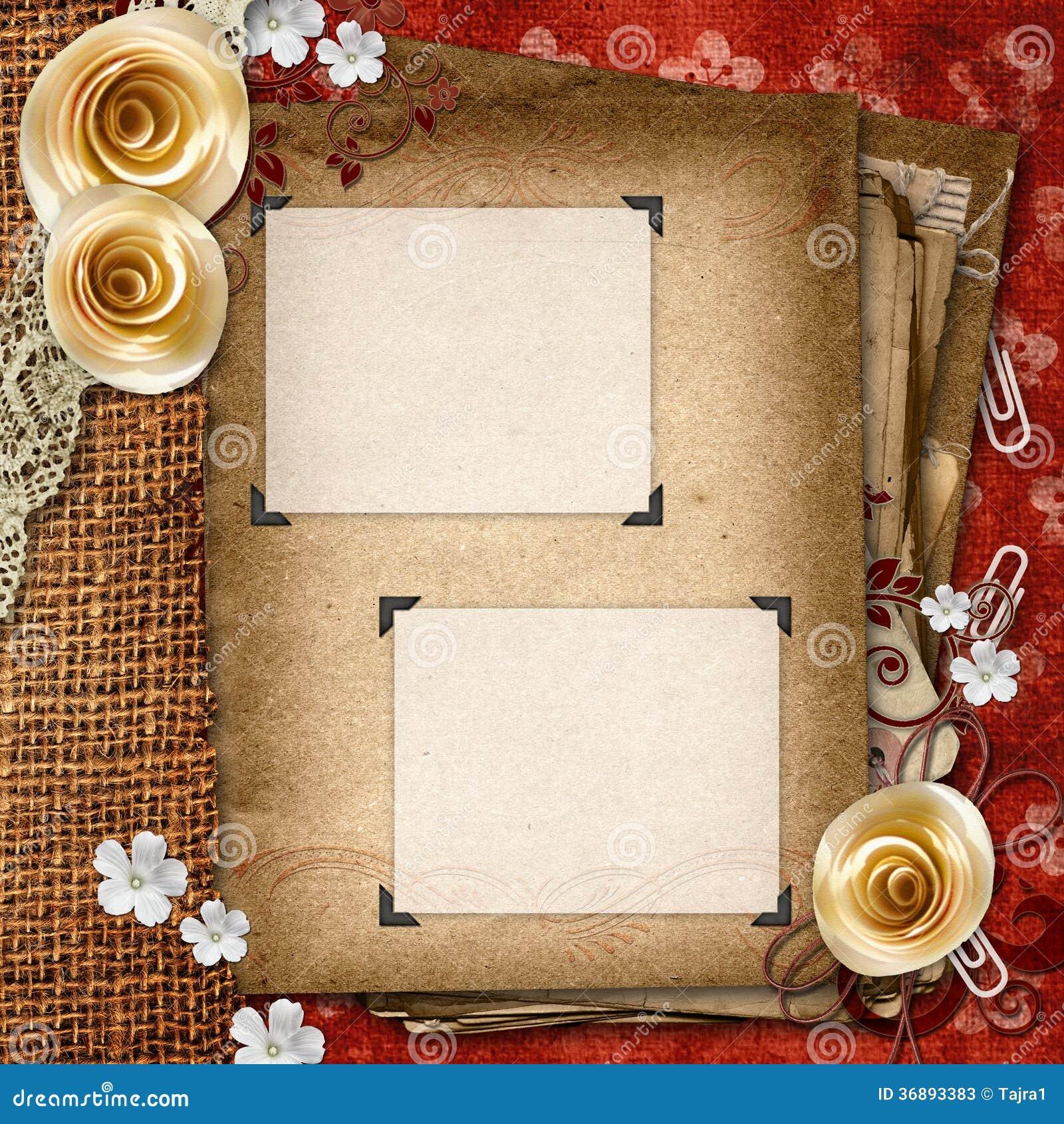 Download Album d'annata immagine stock. Immagine di bridal, angolo - 36893383