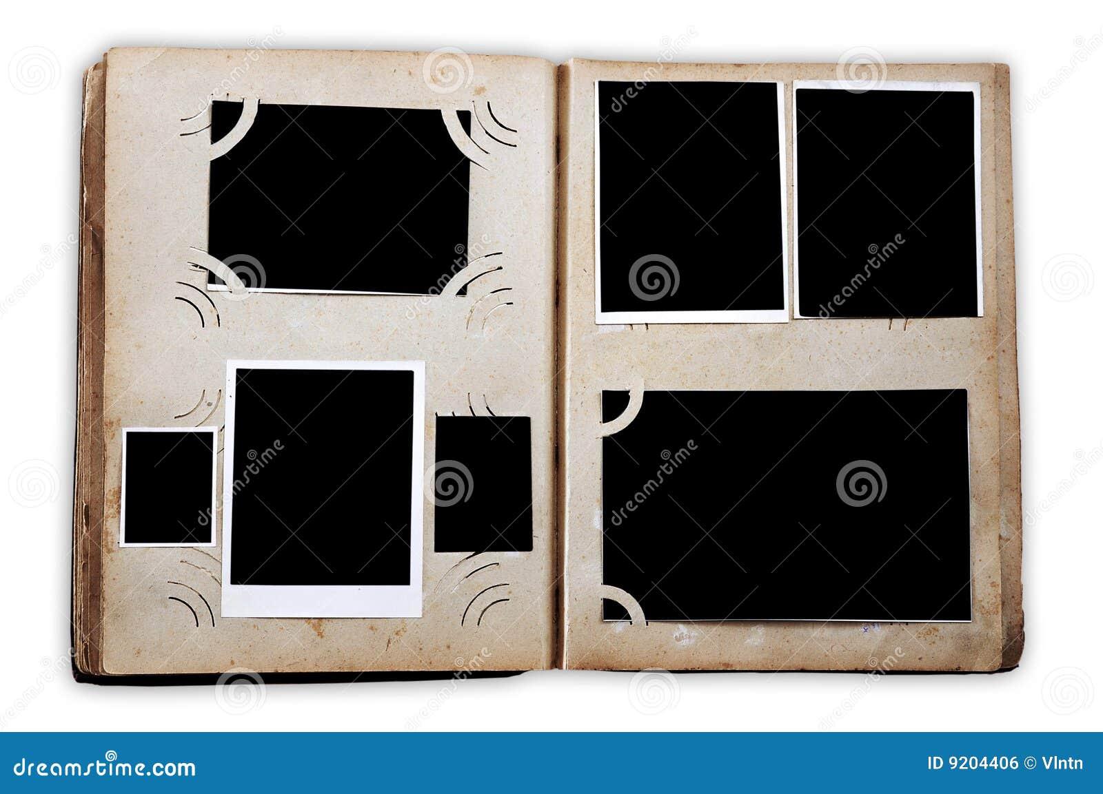Album di foto dell annata con le foto vuote
