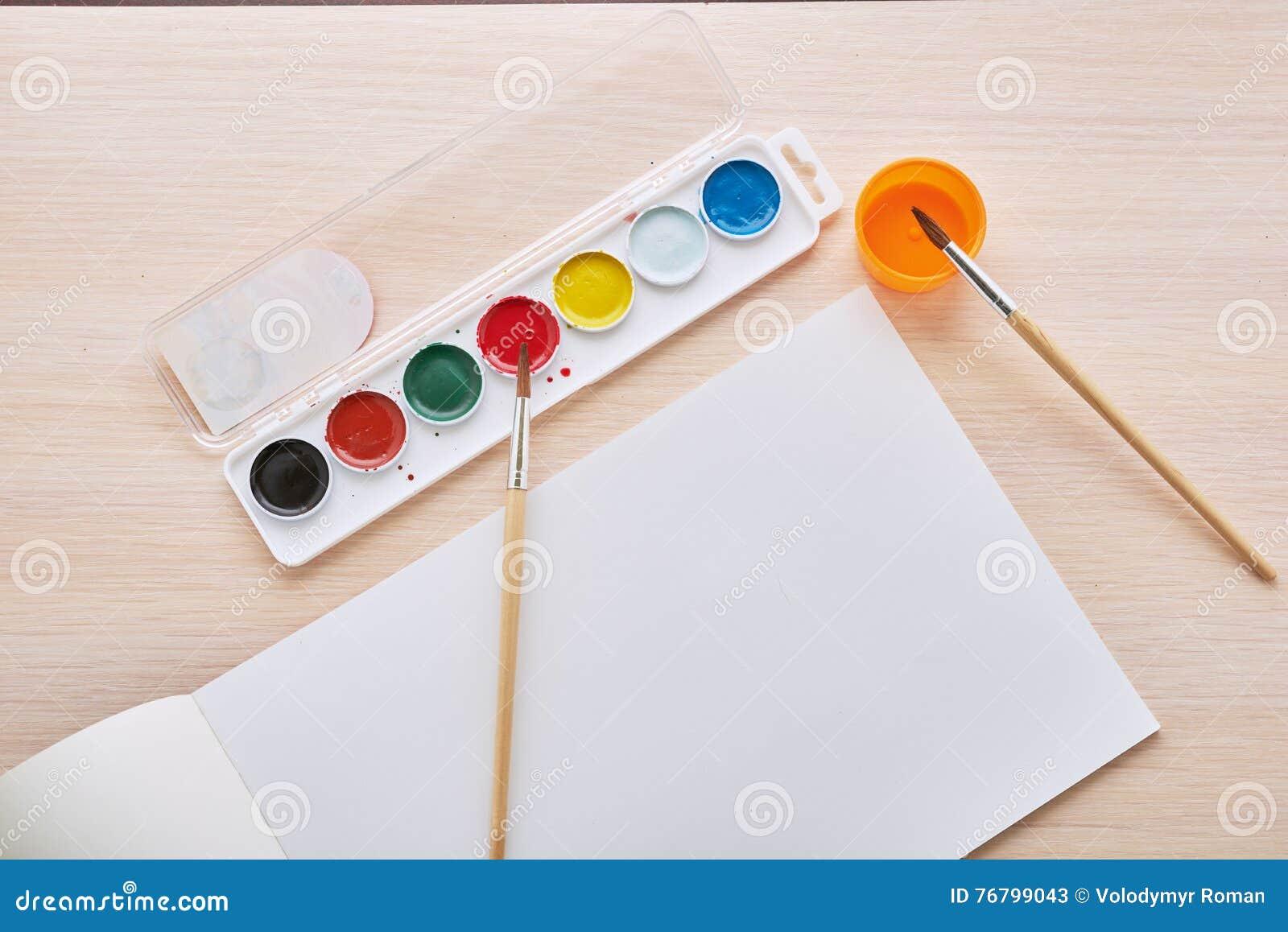 Album and paints