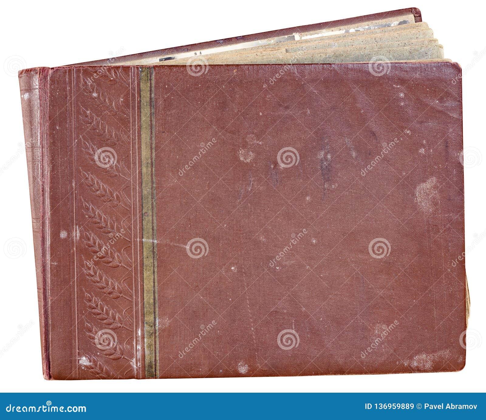 Album van de dekkings het oude rode foto voor foto s