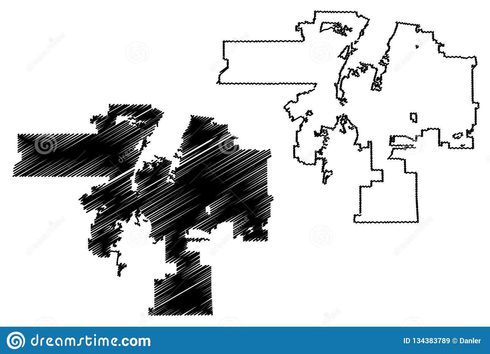 Albuquerque City Map Vector Stock Vector - Illustration of continent on