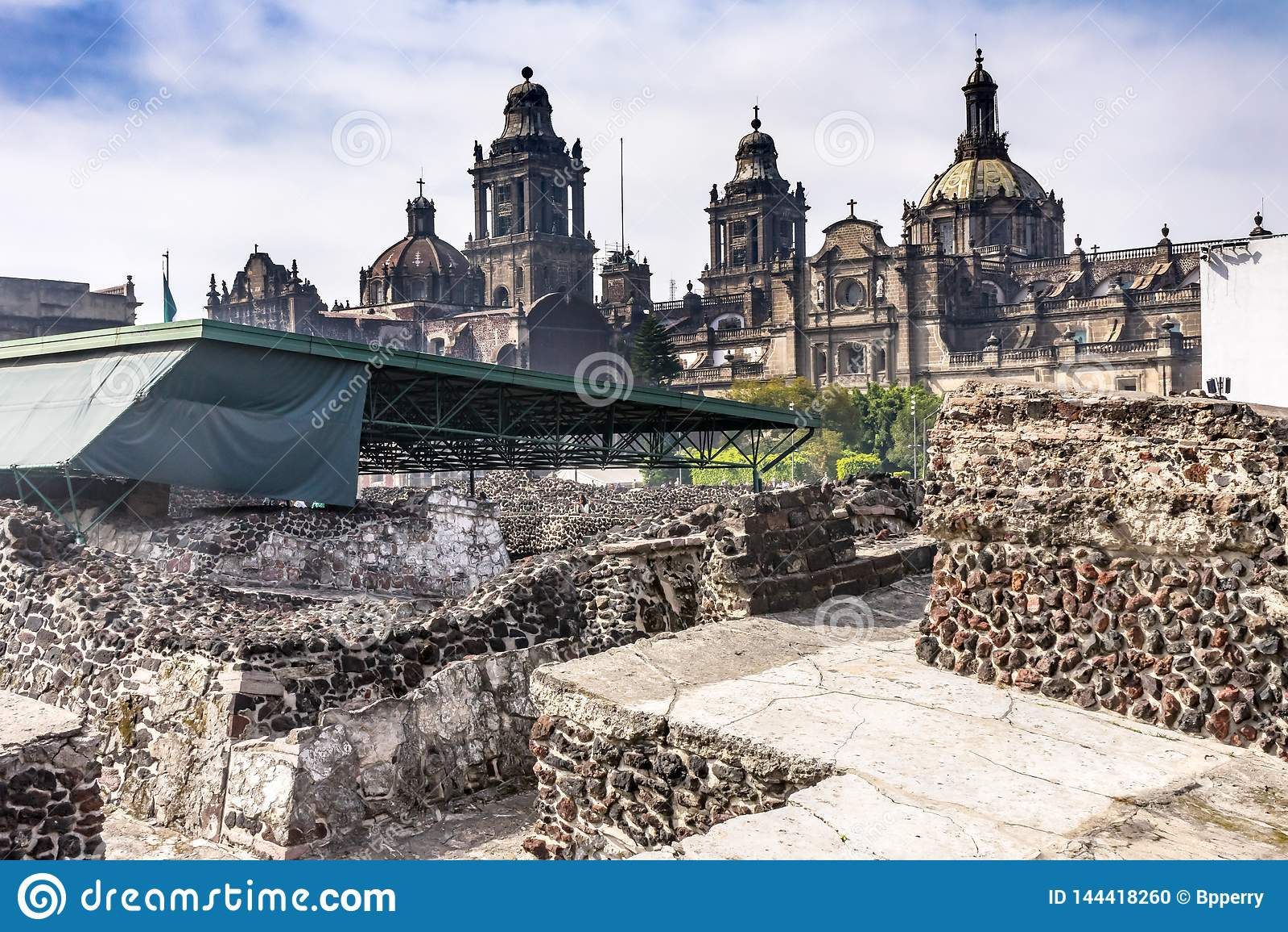 Alcalde metropolitano Zocalo Mexico City México de Templo de la catedral