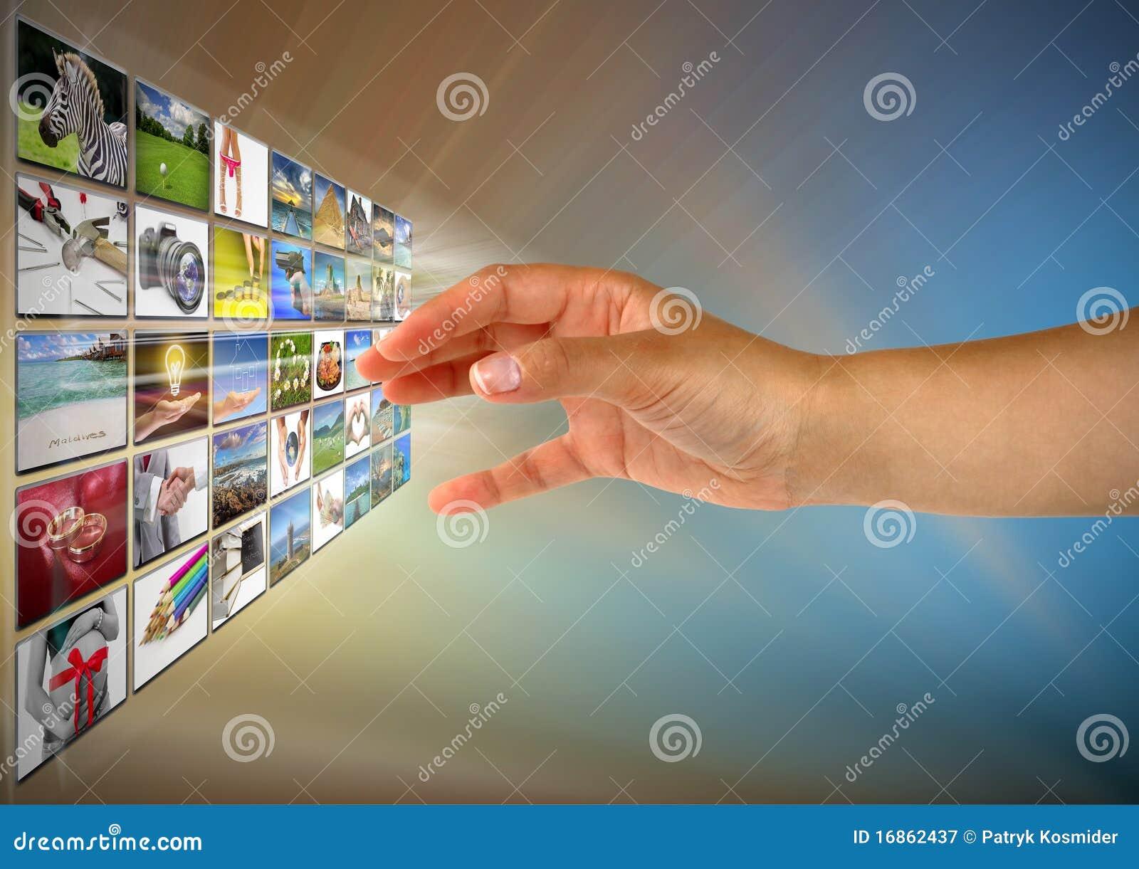 Alcangando imagens na tela