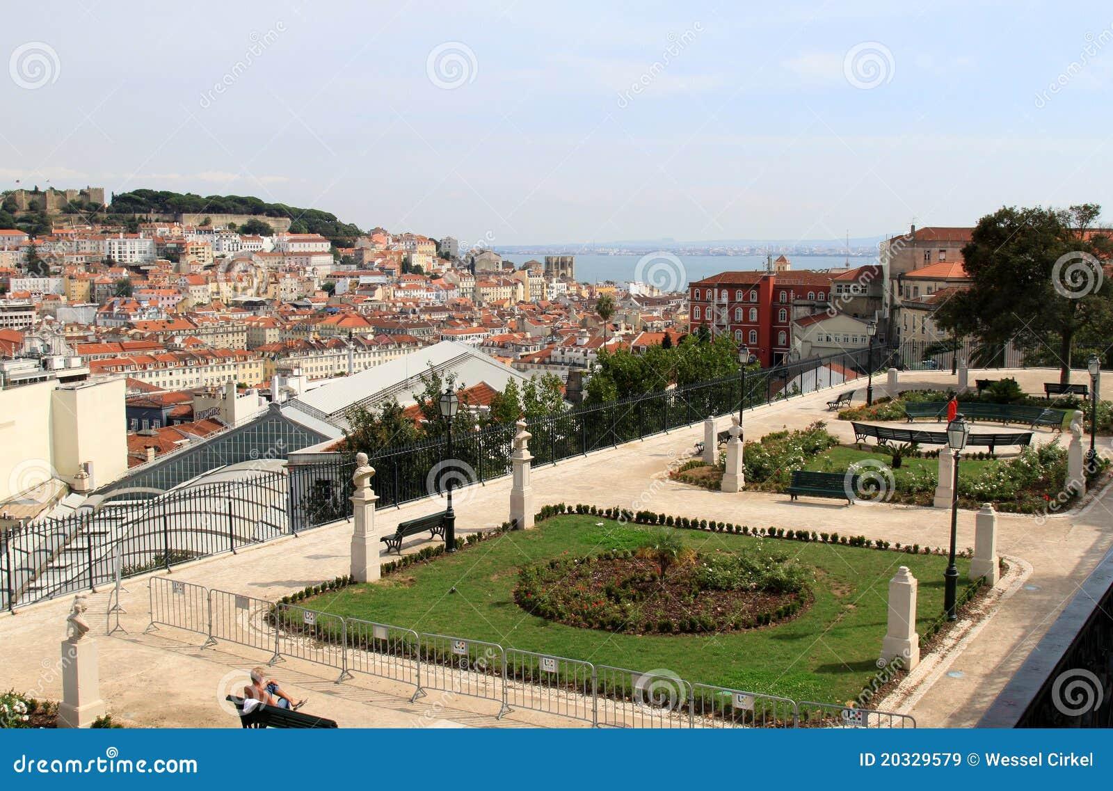 Alcantara de Lisbon miradouro Pedro sao widok